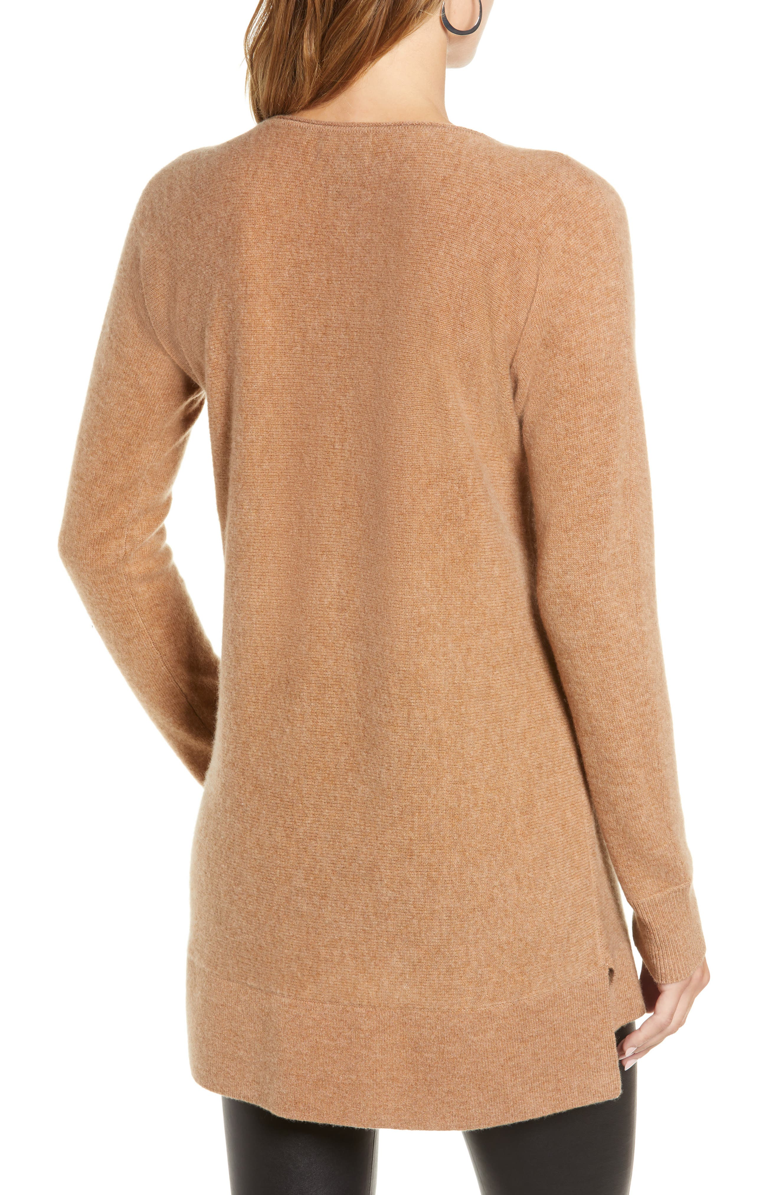High/Low Wool & Cashmere Tunic Sweater,                             Alternate thumbnail 40, color,