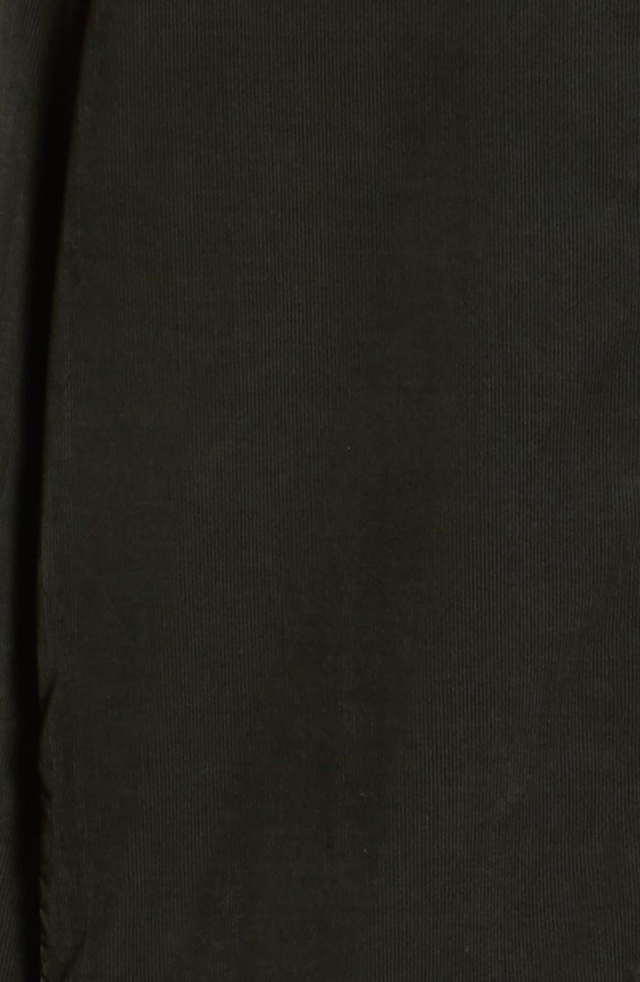Slim Fit Corduroy Shirt,                             Alternate thumbnail 6, color,                             001
