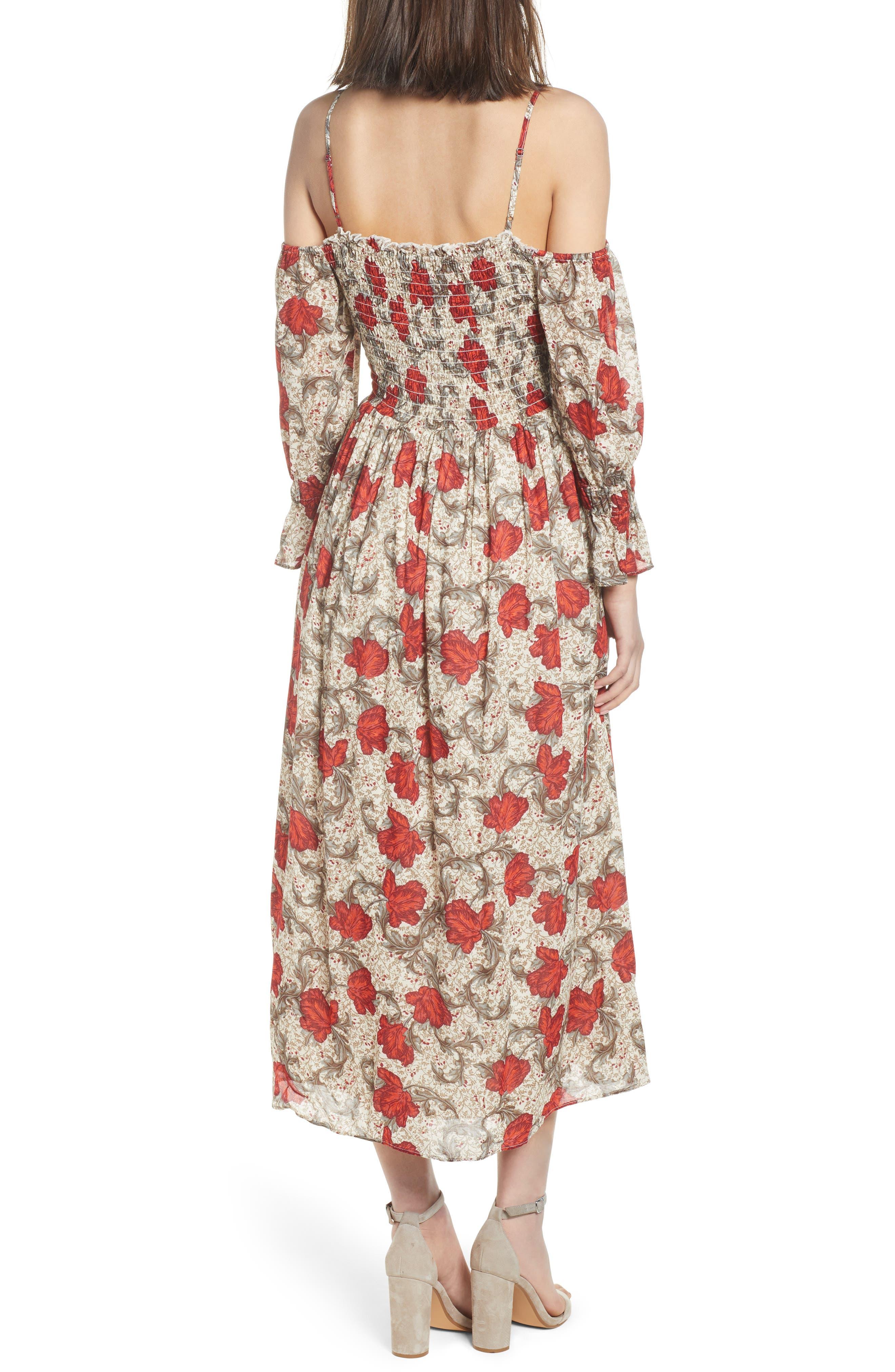 Smocked Back Cold Shoulder Dress,                             Alternate thumbnail 2, color,                             250