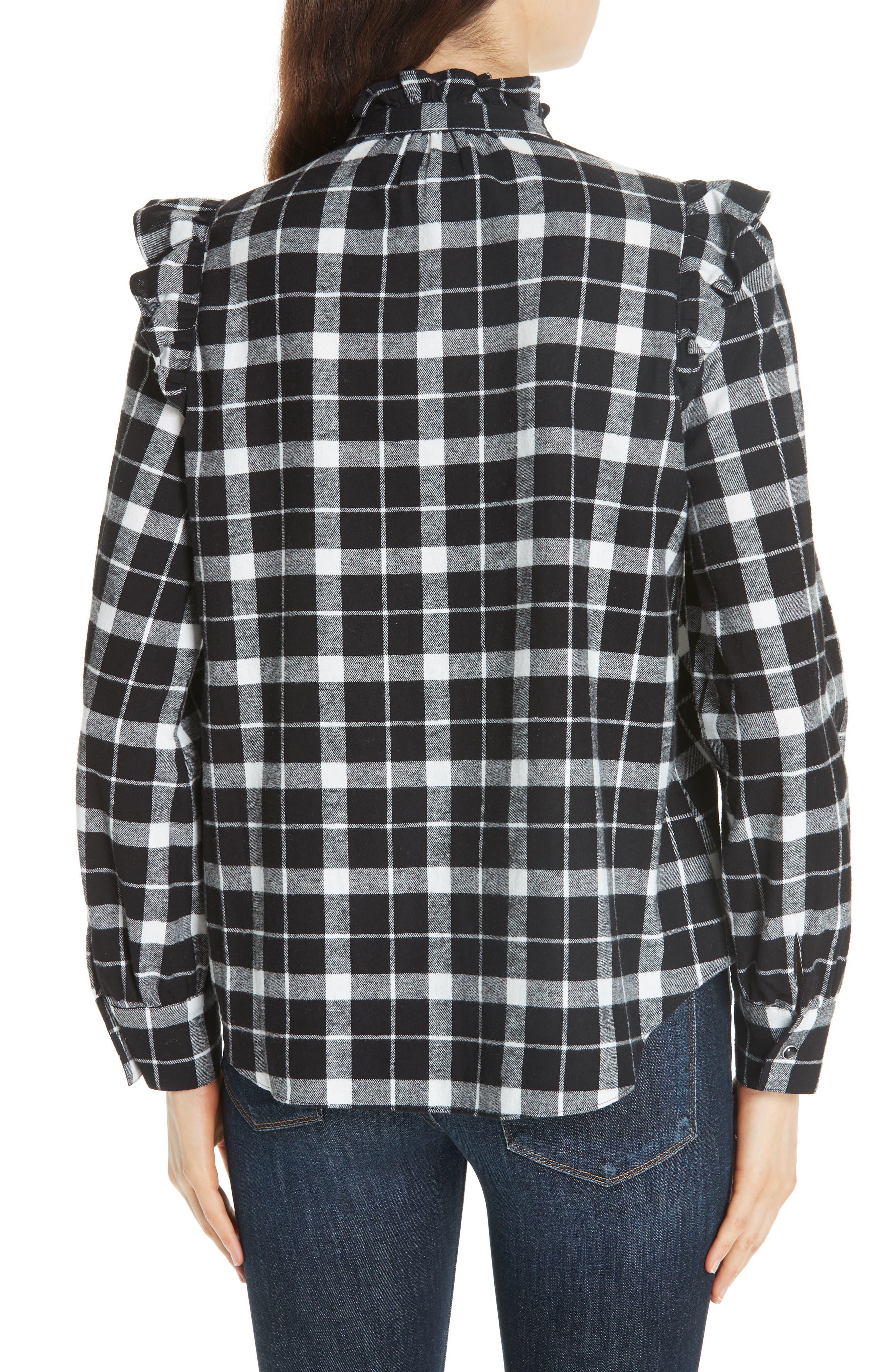 rustic plaid flannel shirt,                             Alternate thumbnail 2, color,                             001