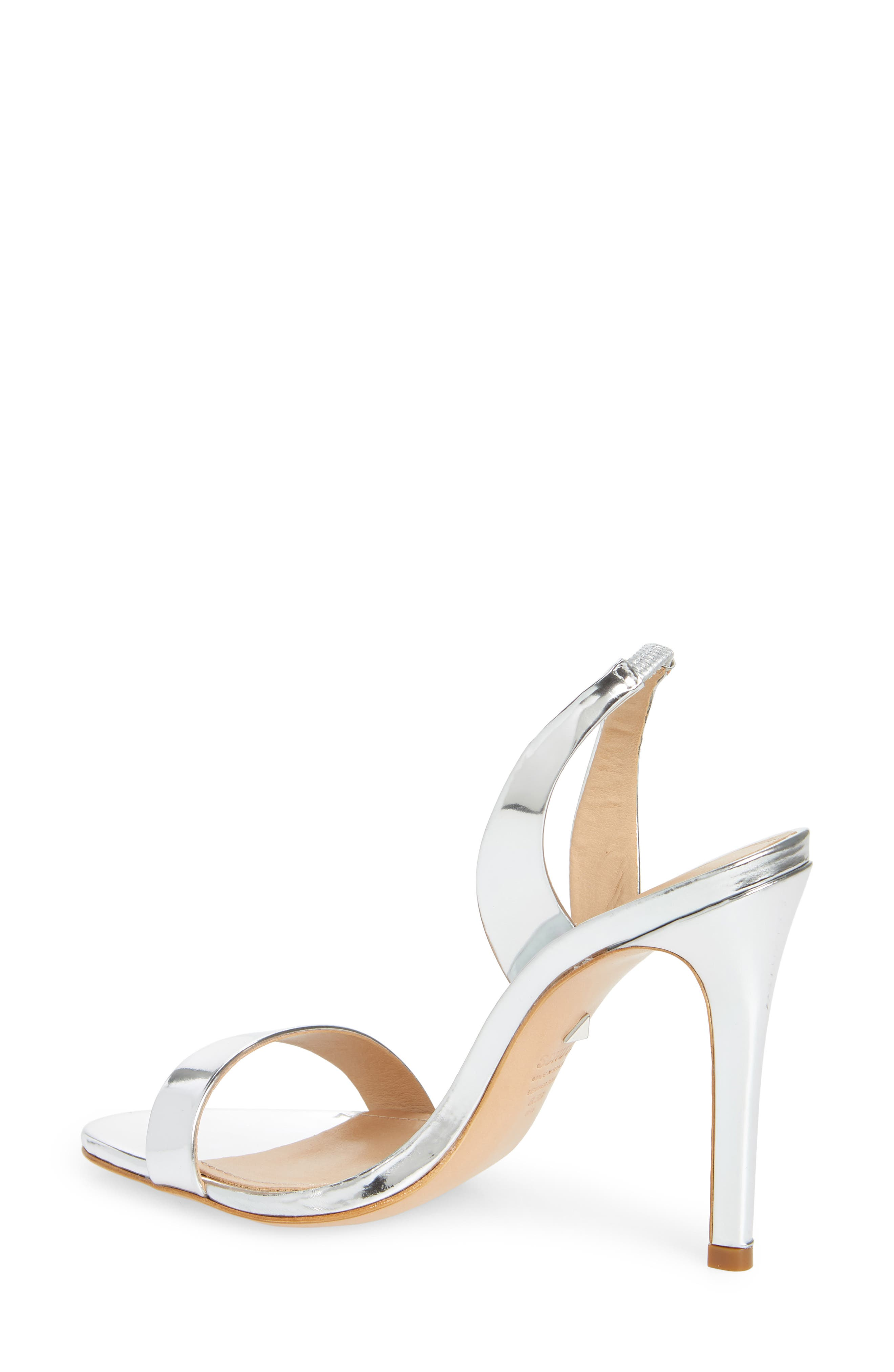 Luriane Sandal,                             Alternate thumbnail 2, color,                             SILVER PATENT LEATHER