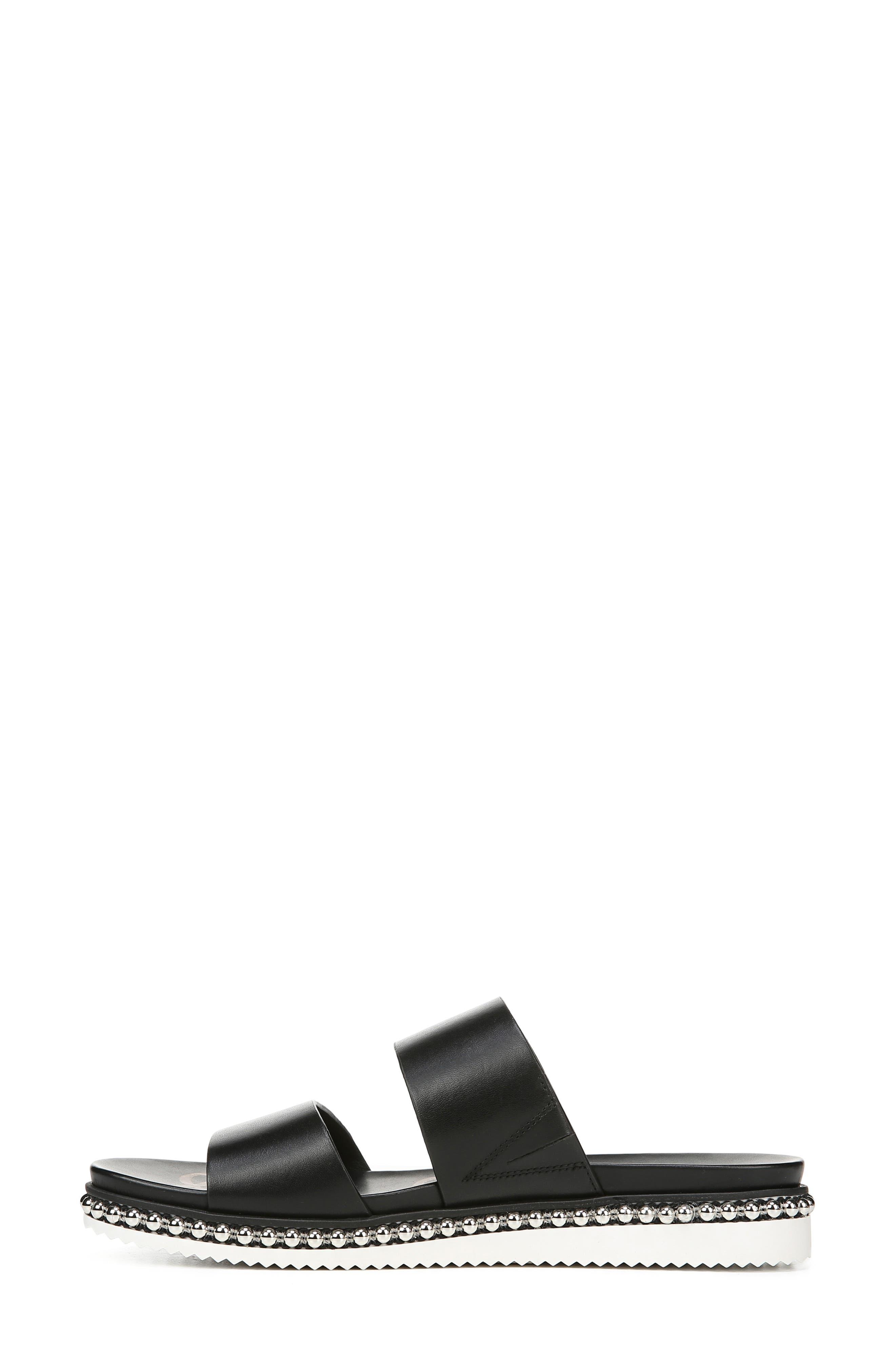 SAM EDELMAN,                             Asha Slide Sandal,                             Alternate thumbnail 8, color,                             BLACK LEATHER