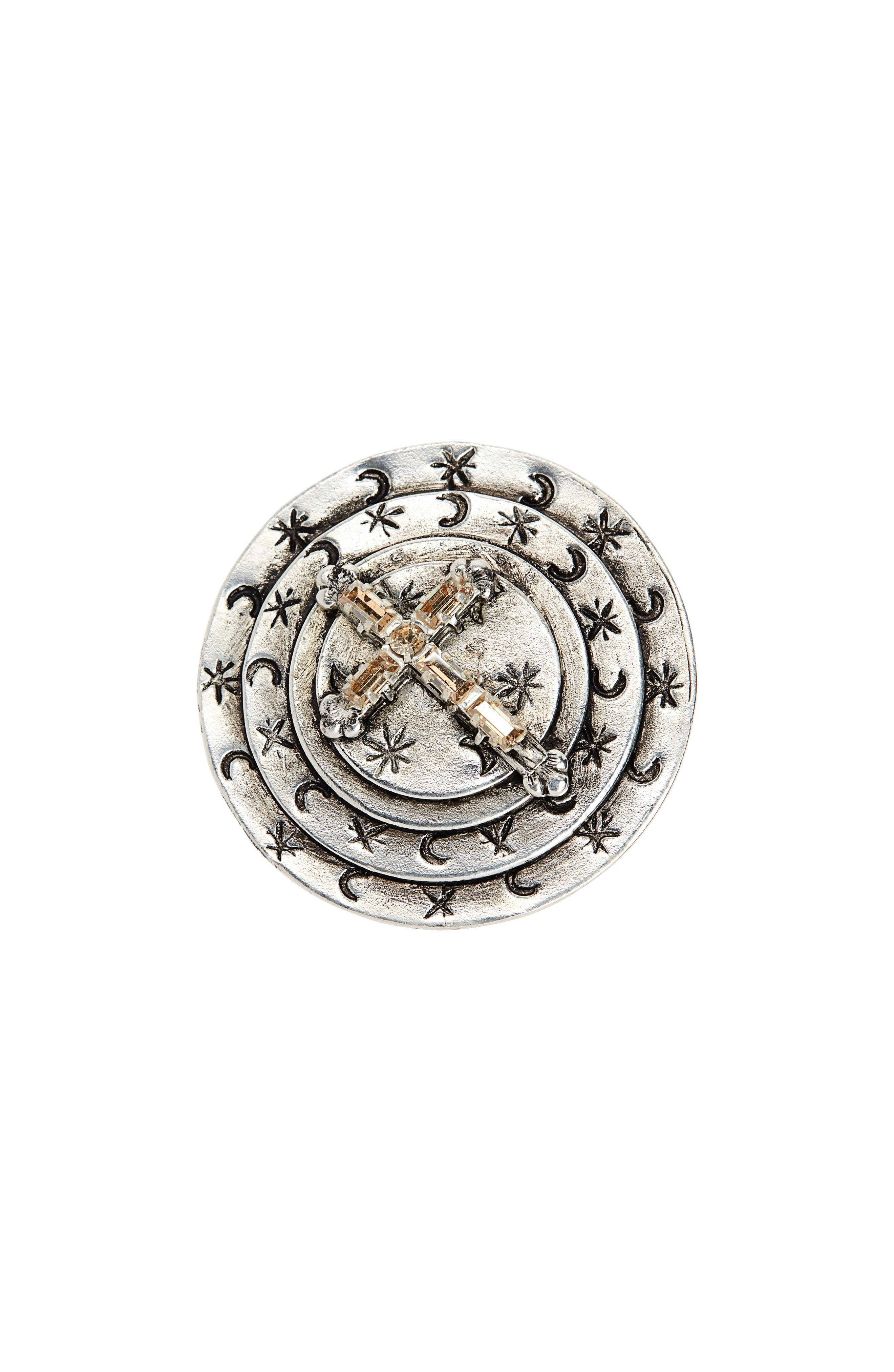 Mother Goddess Apogee Cocktail Ring,                             Main thumbnail 1, color,                             SILVER