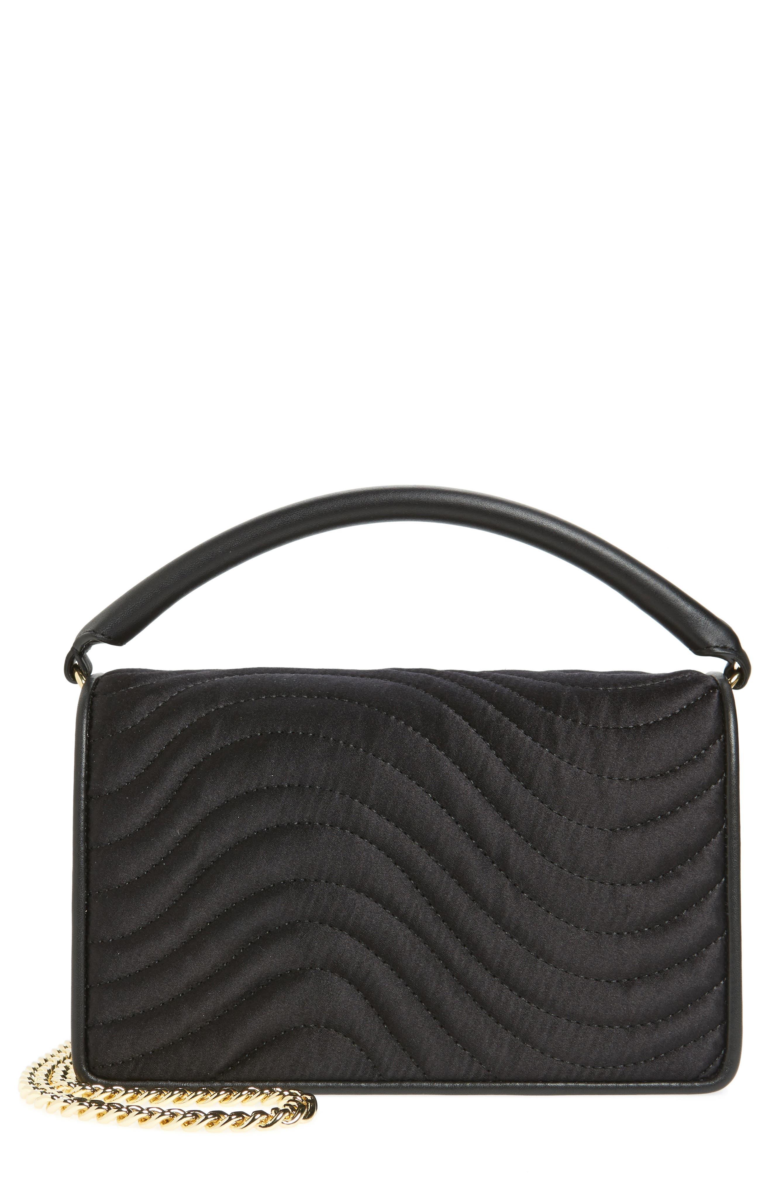 Bonne Soirée Quilted Top Handle Bag,                             Main thumbnail 1, color,                             001