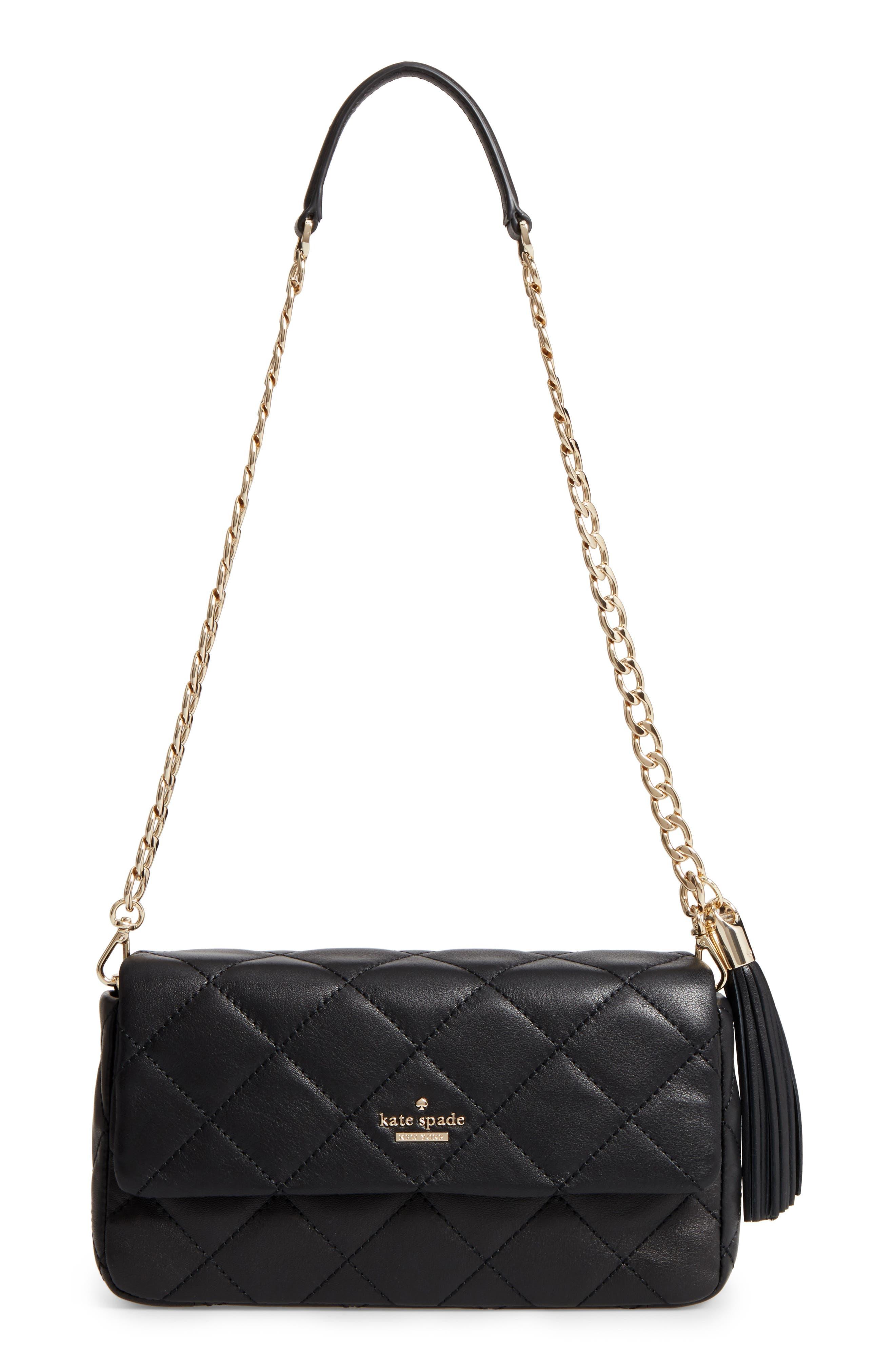 emerson place - serena leather shoulder bag,                             Main thumbnail 1, color,                             001