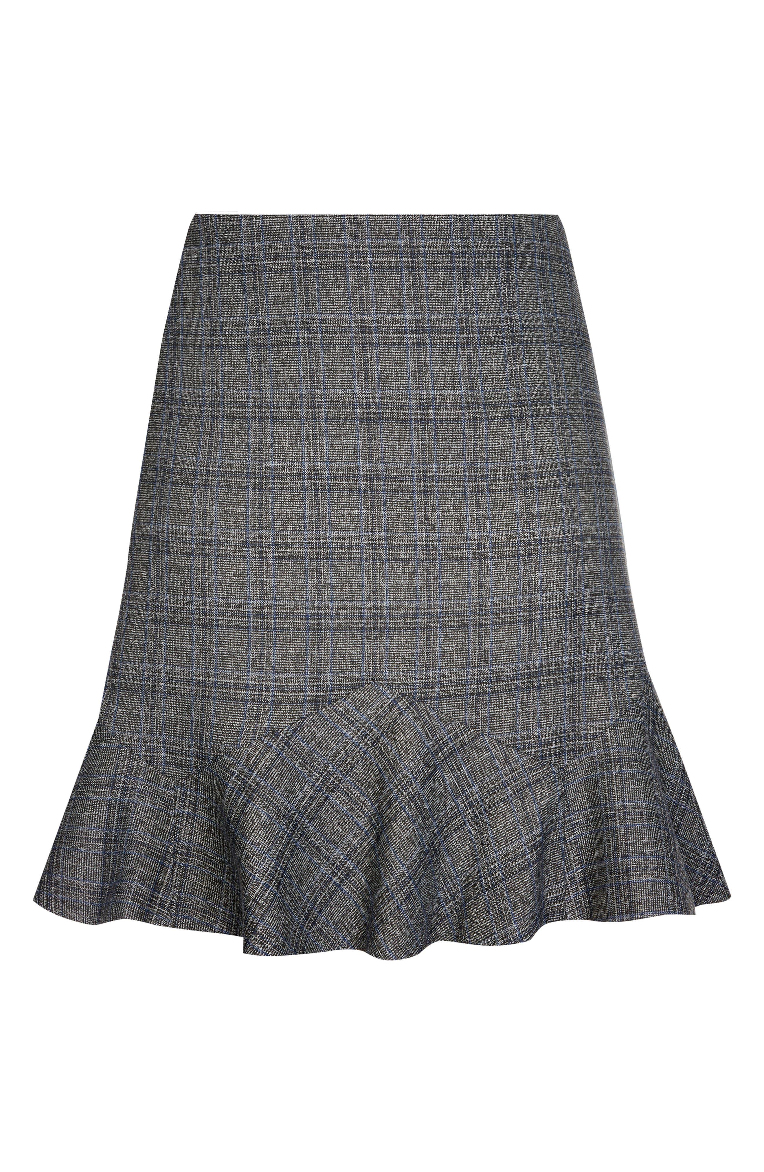 Scottish Plaid Frill Skirt,                             Alternate thumbnail 3, color,                             ELECTRIC CHECK