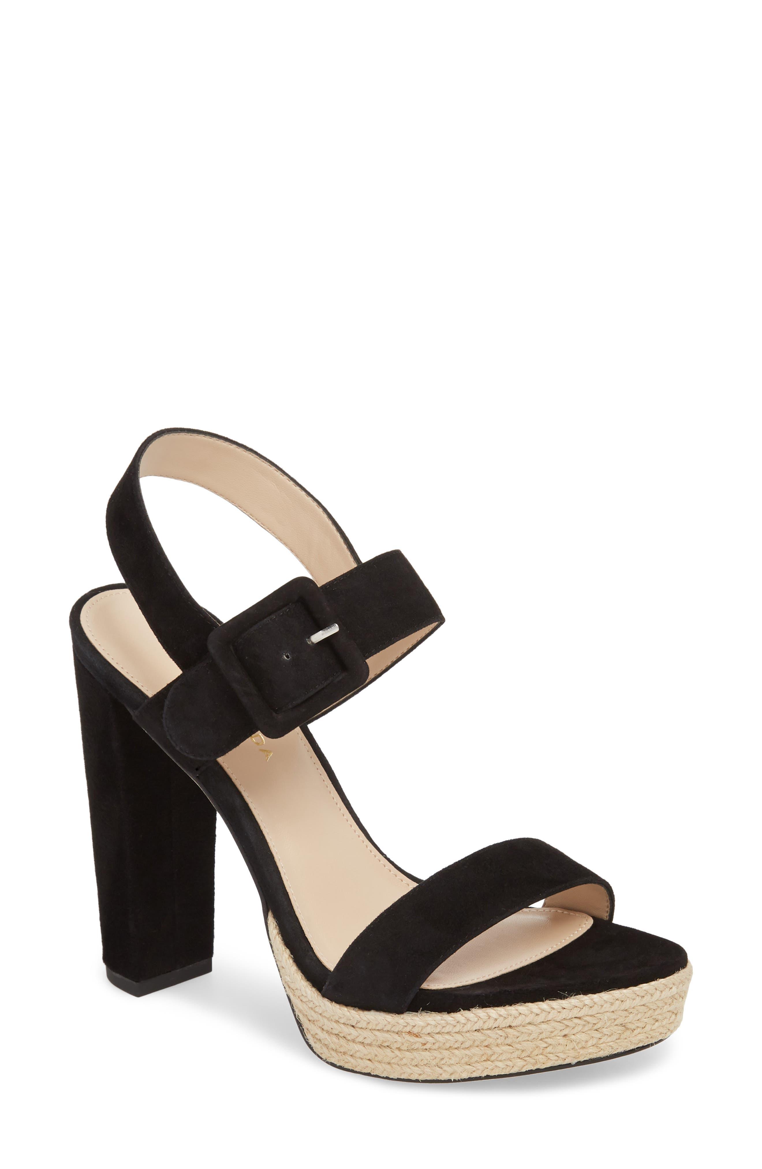 Paloma Platform Sandal,                             Main thumbnail 1, color,                             002