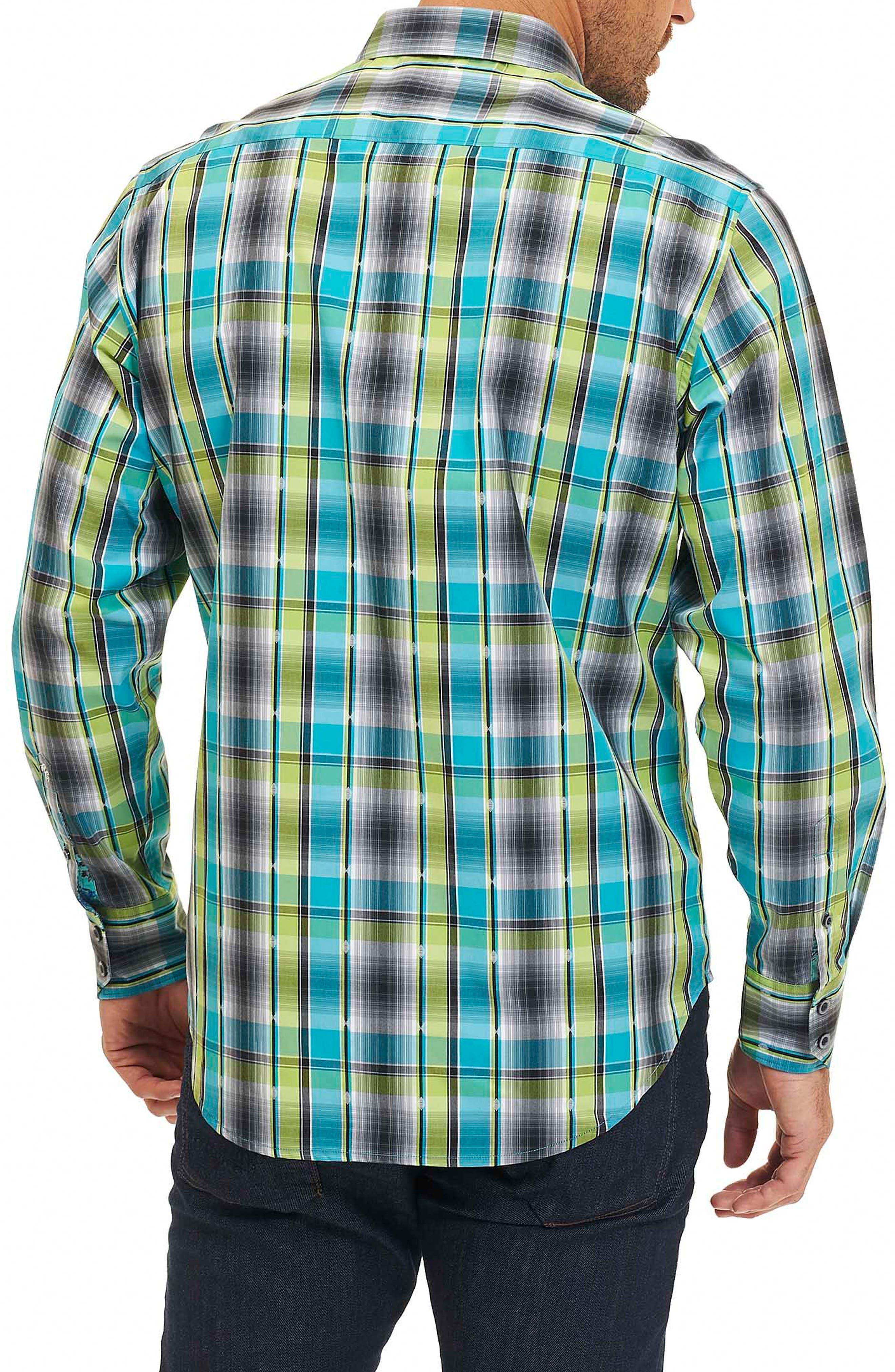 Hiran Plaid Sport Shirt,                             Alternate thumbnail 2, color,                             323