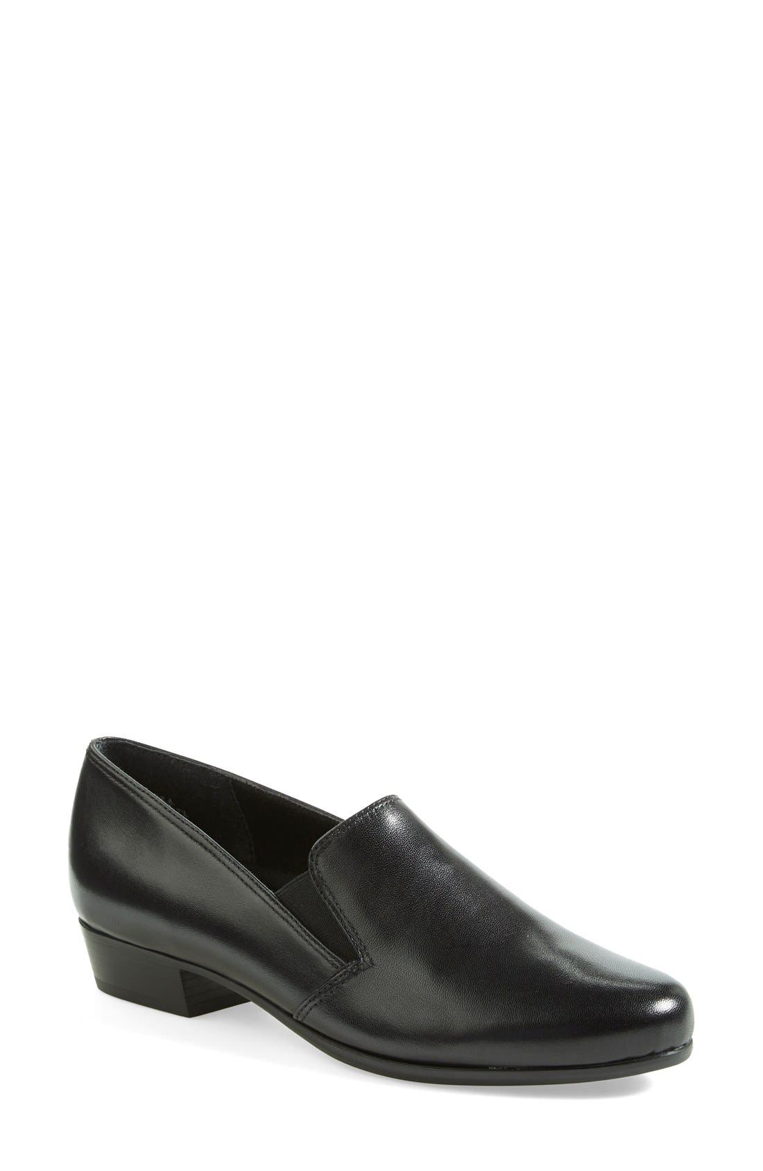'Hailey' Leather Loafer, Main, color, 001