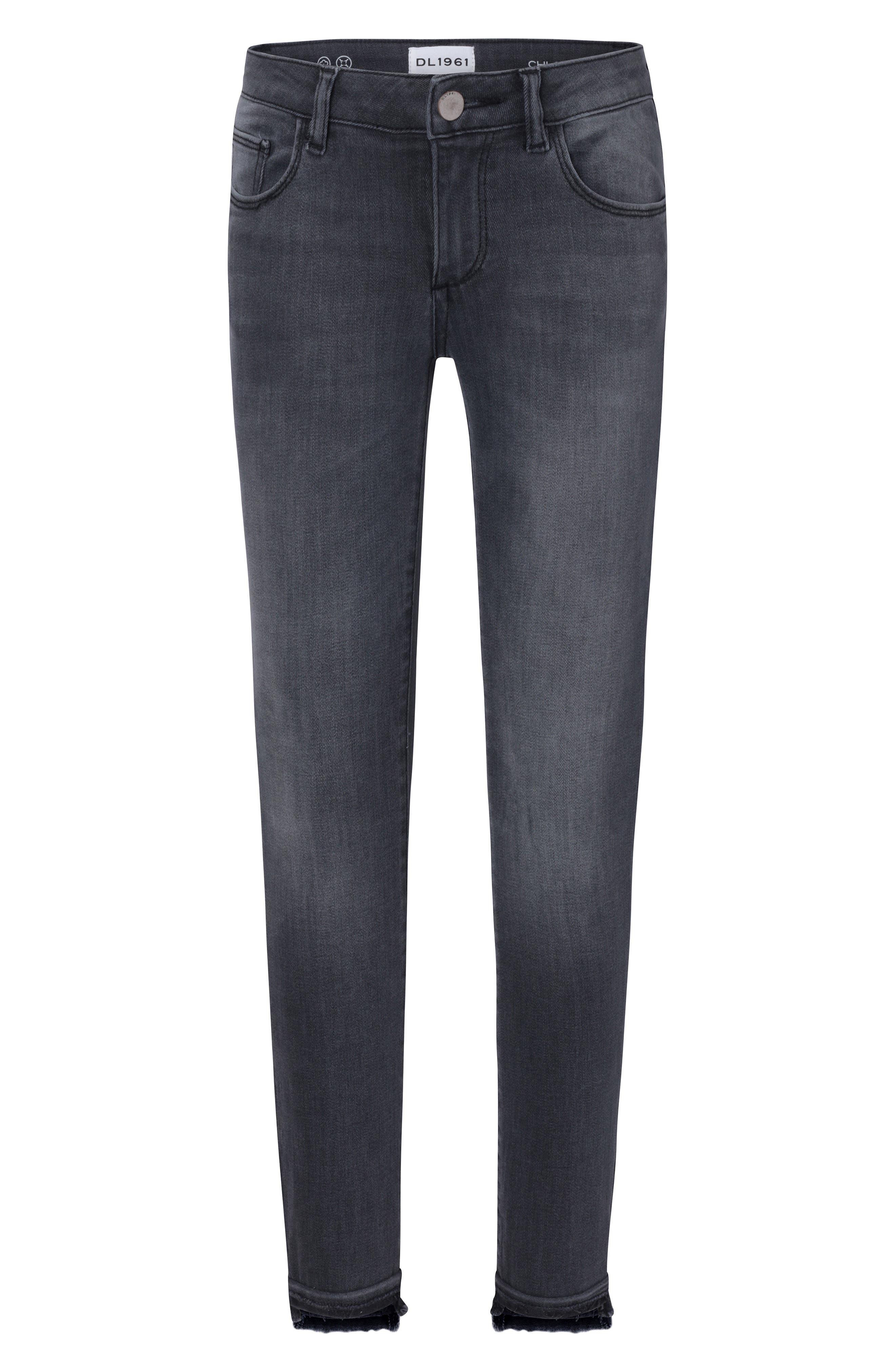 Girls Dl1961 Chloe Released Step Hem Skinny Jeans Size 10  Grey