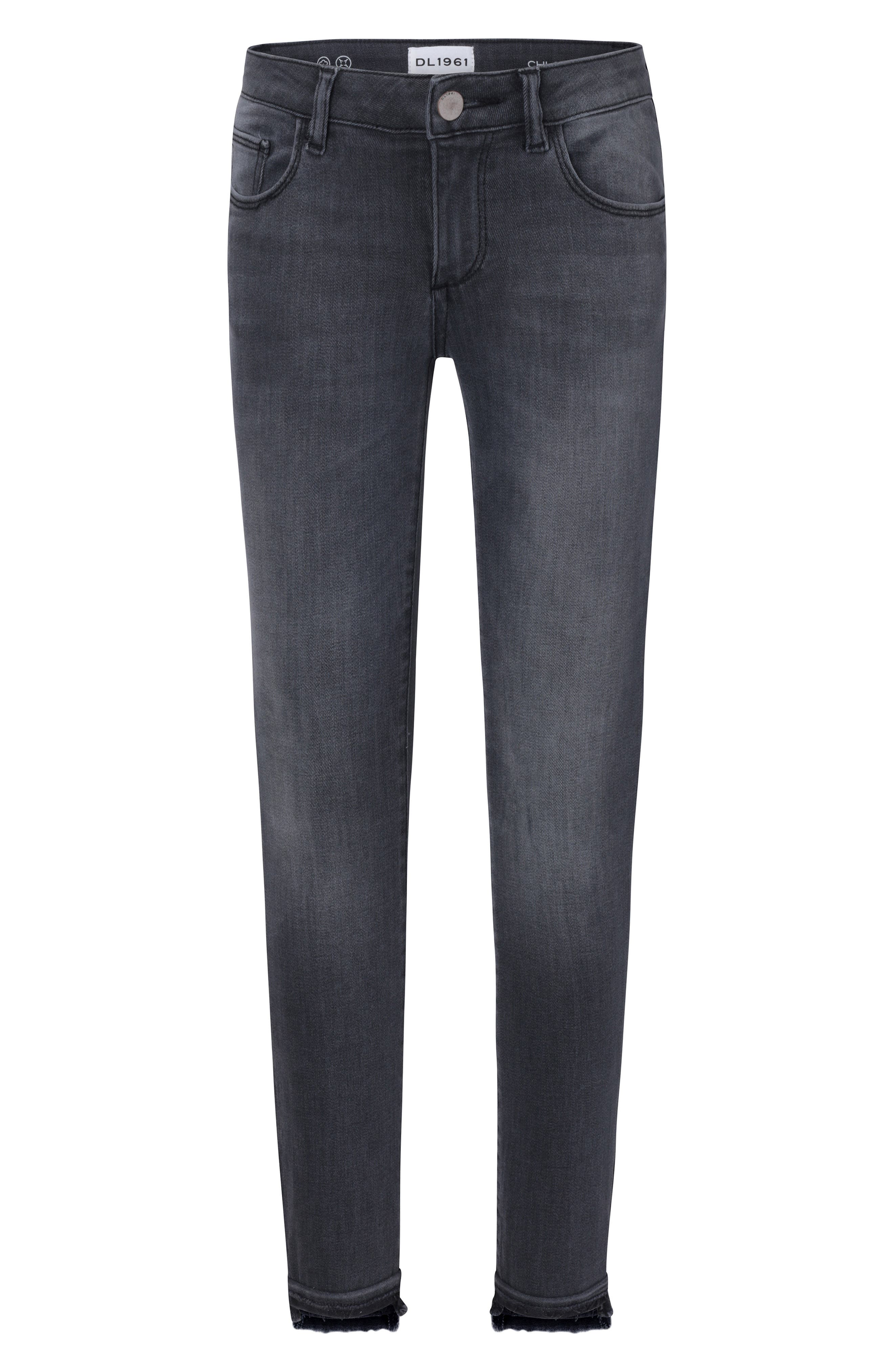 Chloe Released Step Hem Skinny Jeans,                         Main,                         color, STORMY