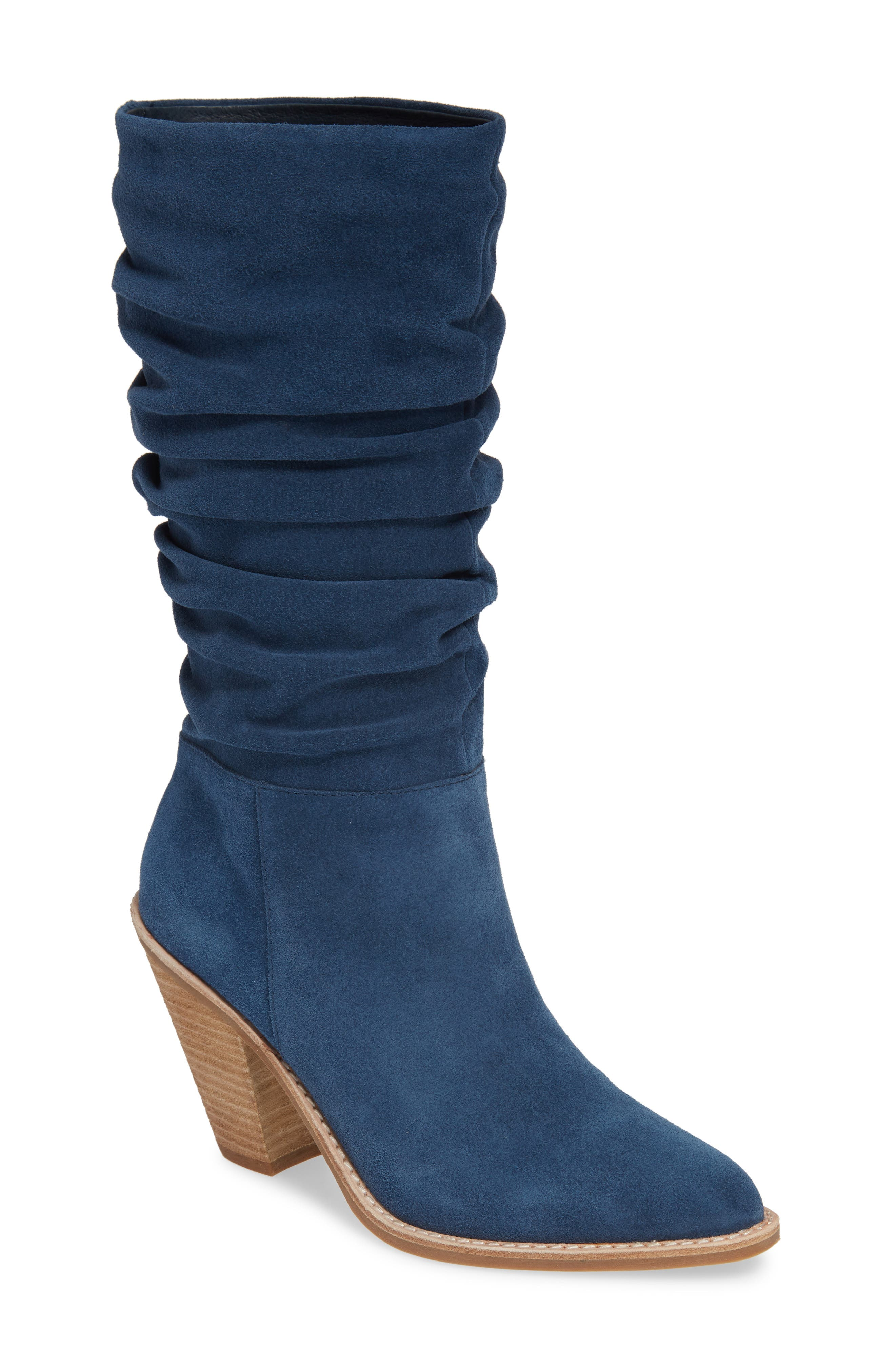 Jeffrey Campbell Audie Slouchy Boot, Blue