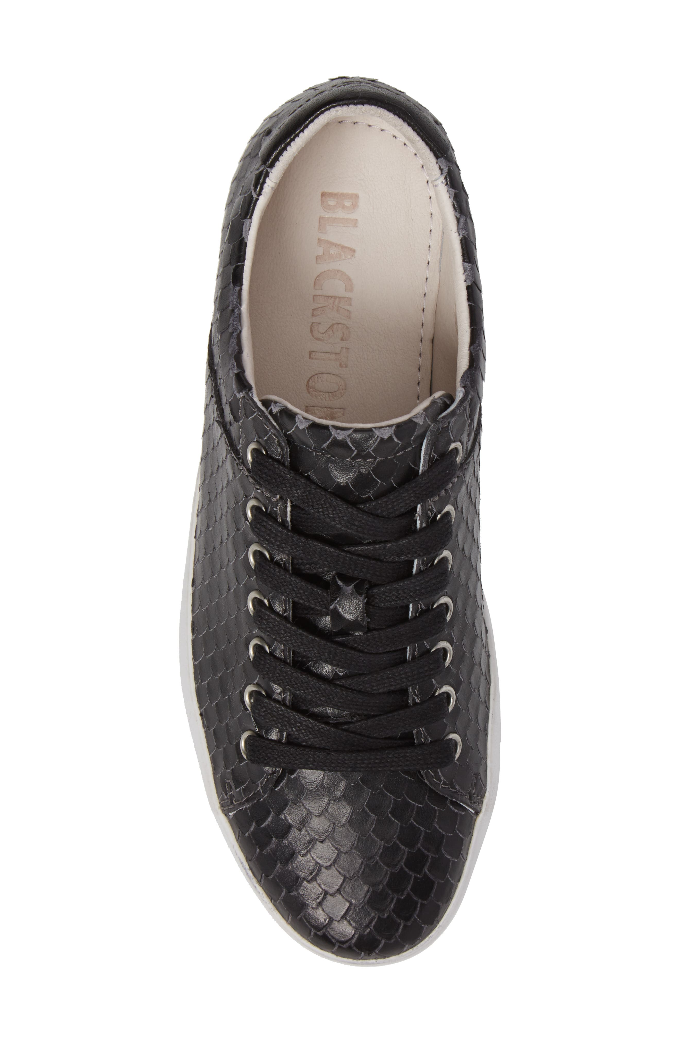 OL25 Sneaker,                             Alternate thumbnail 5, color,                             BLACK LEATHER