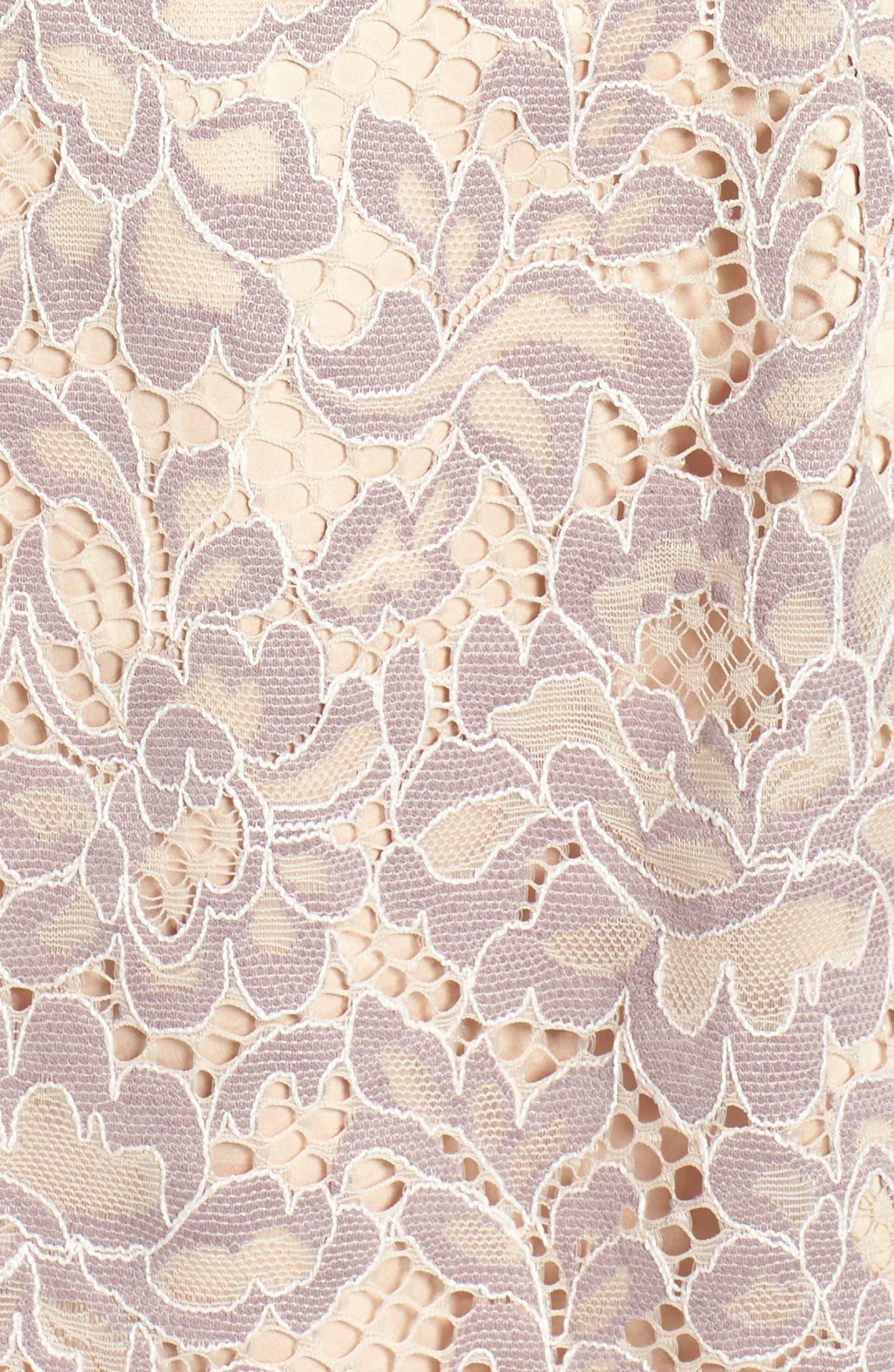 Lace Fit & Flare Dress,                             Alternate thumbnail 7, color,                             030