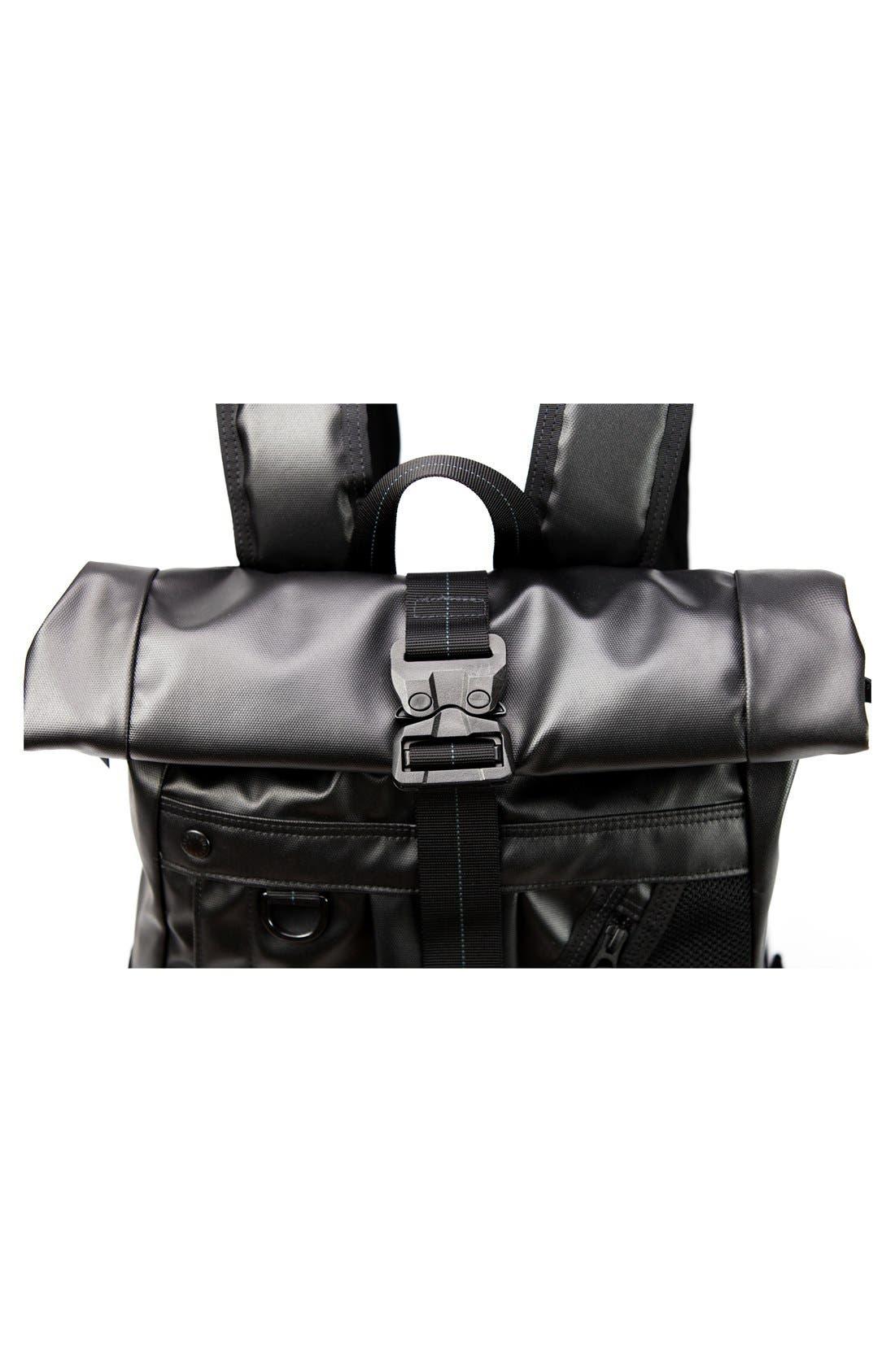 NightHawk Roll Top Backpack,                             Alternate thumbnail 2, color,                             BLACK