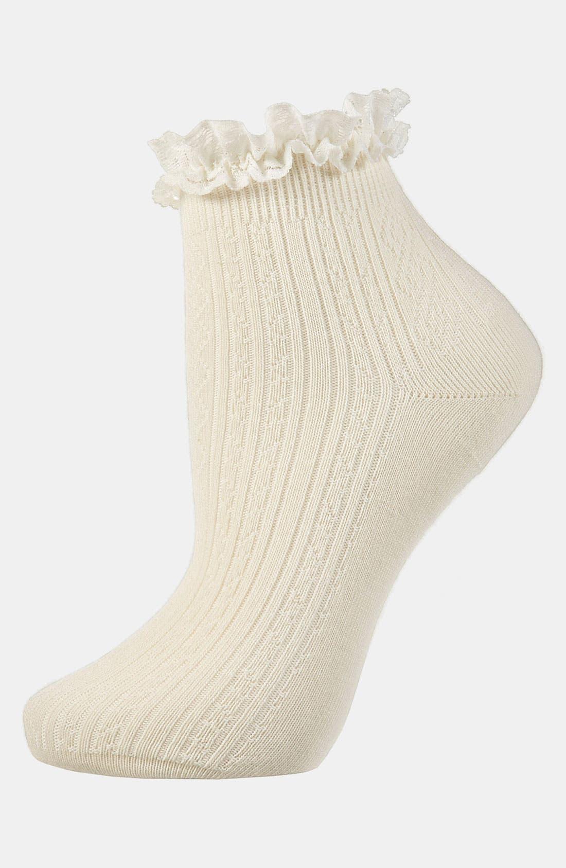 Lace Trim Ankle Socks,                             Main thumbnail 26, color,