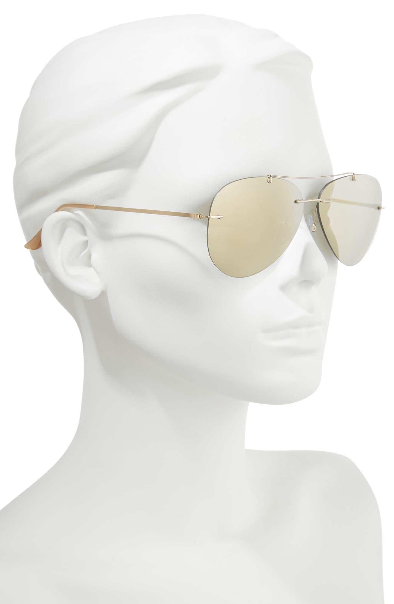 SEAFOLLY,                             Redondo 61mm Rimless Aviator Sunglasses,                             Alternate thumbnail 2, color,                             710