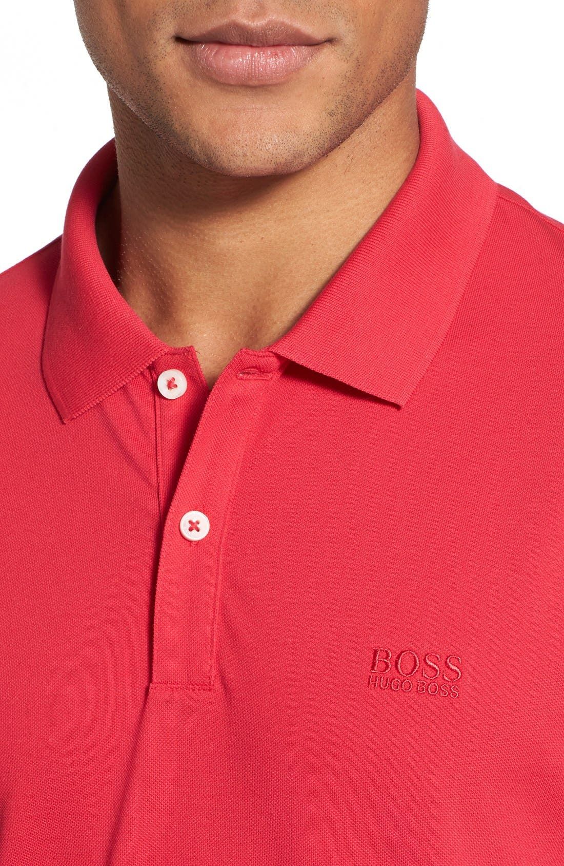 'Pallas' Regular Fit Logo Embroidered Polo Shirt,                             Alternate thumbnail 67, color,