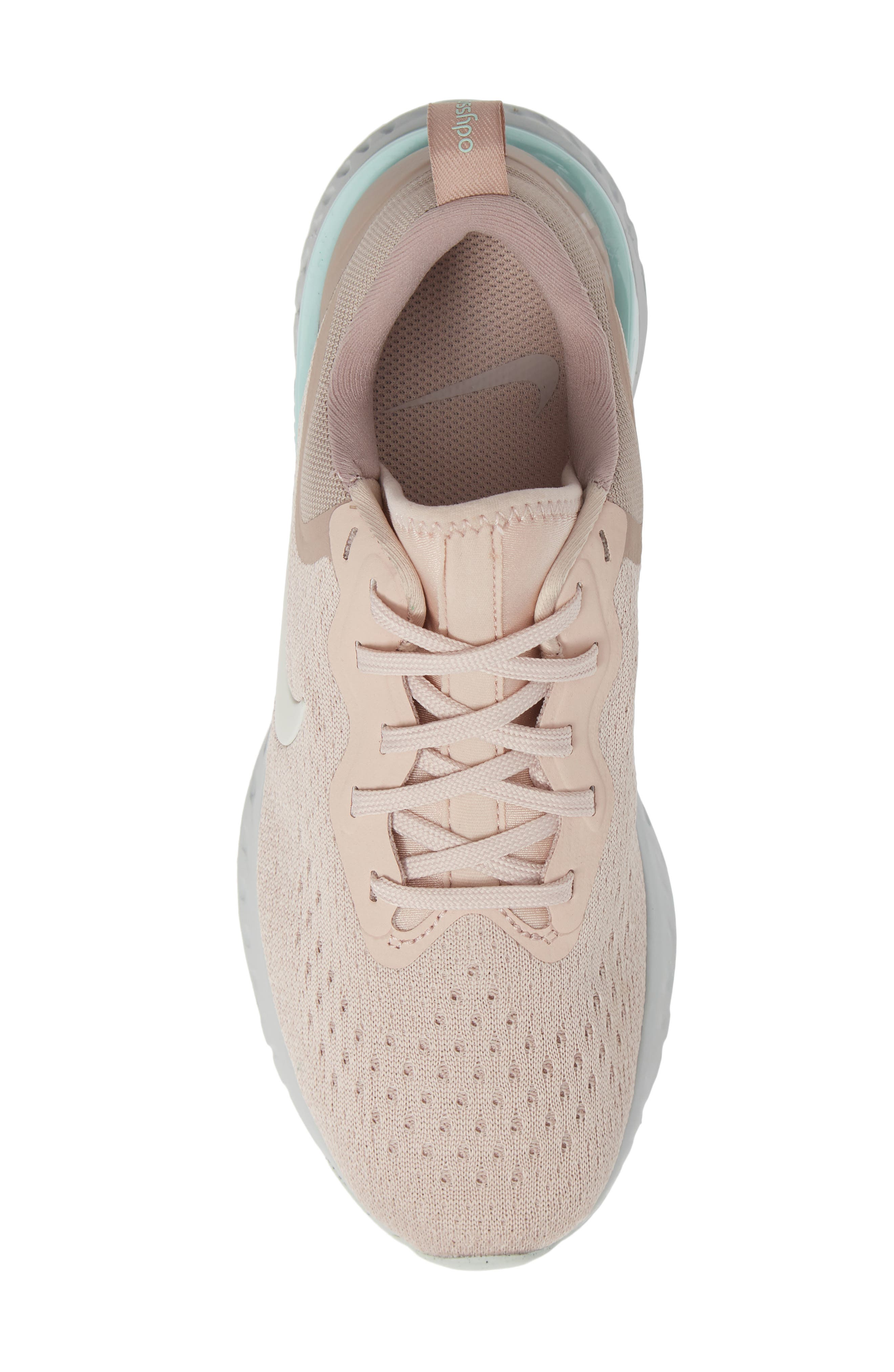 Odyssey React Running Shoe,                             Alternate thumbnail 5, color,                             BEIGE/ PHANTOM-DIFFUSED TAUPE
