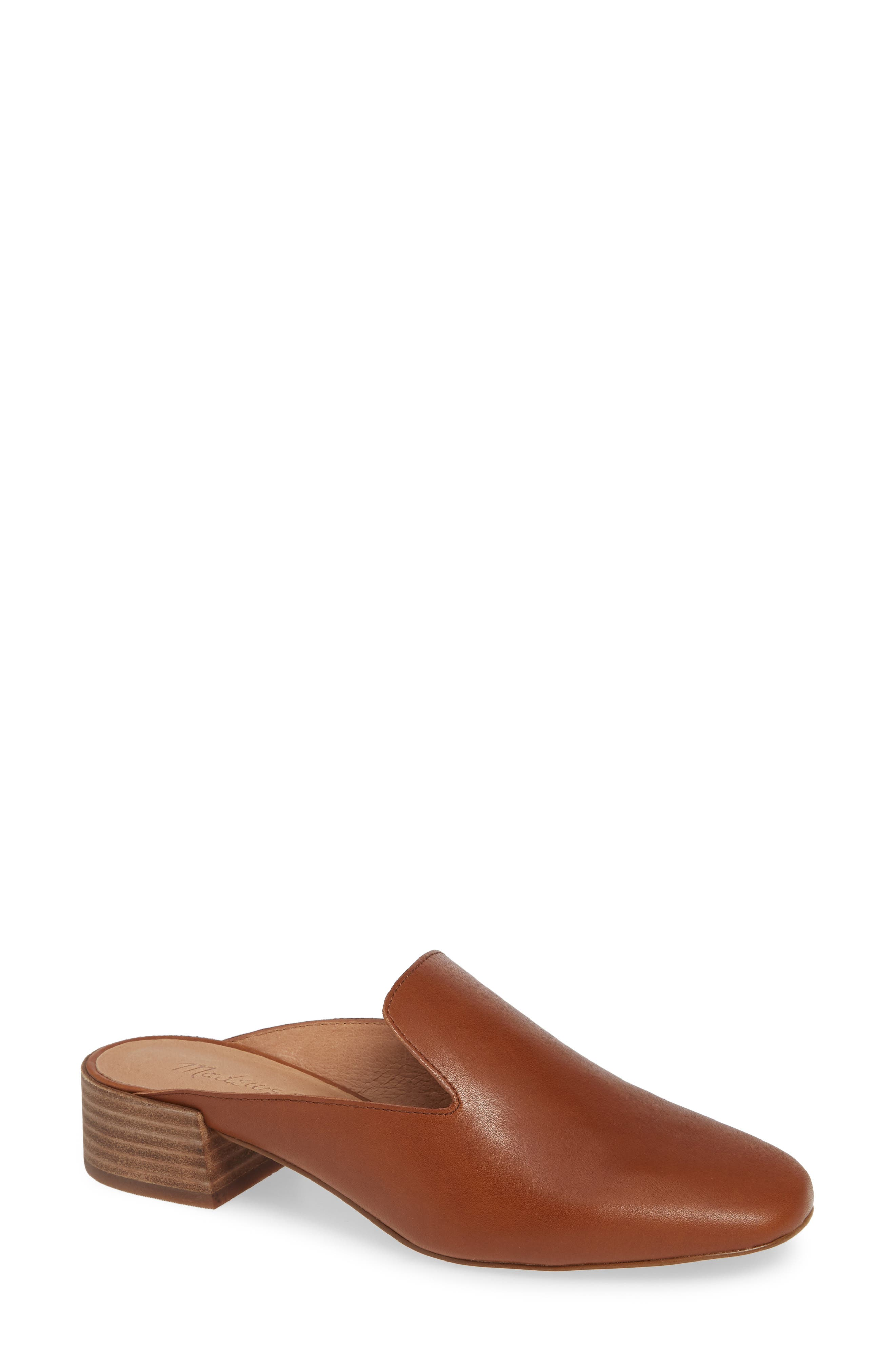 The Willa Loafer Mule,                             Main thumbnail 1, color,                             ENGLISH SADDLE VINTAGE LEATHER