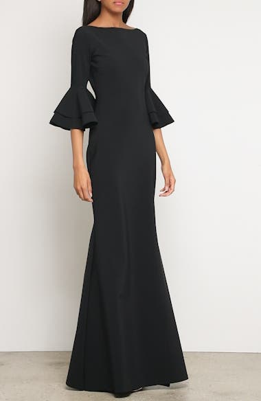 Iva Ruffle Bell Sleeve Gown, video thumbnail