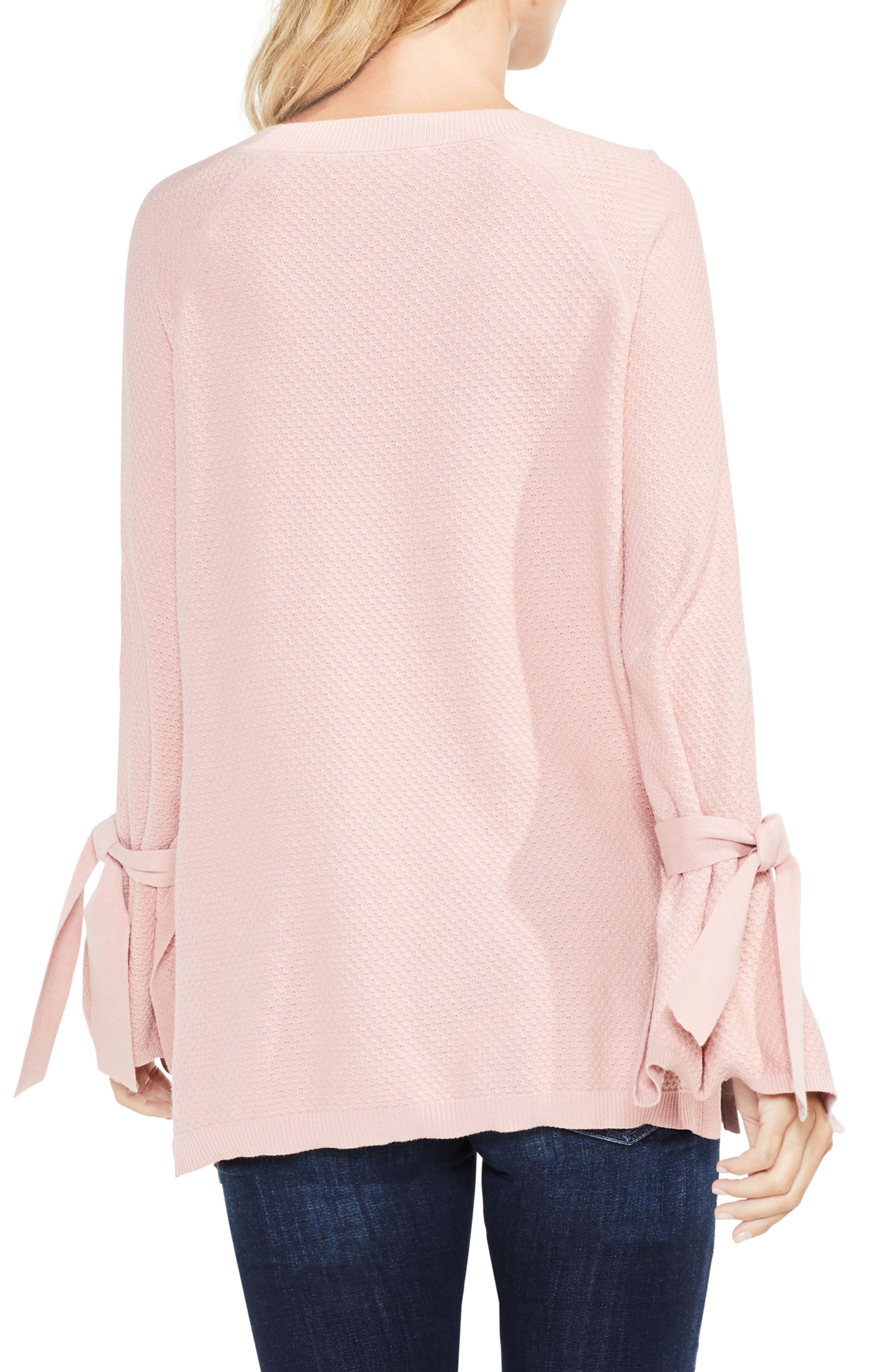Texture Stitch Tie-Sleeve Top,                             Alternate thumbnail 7, color,