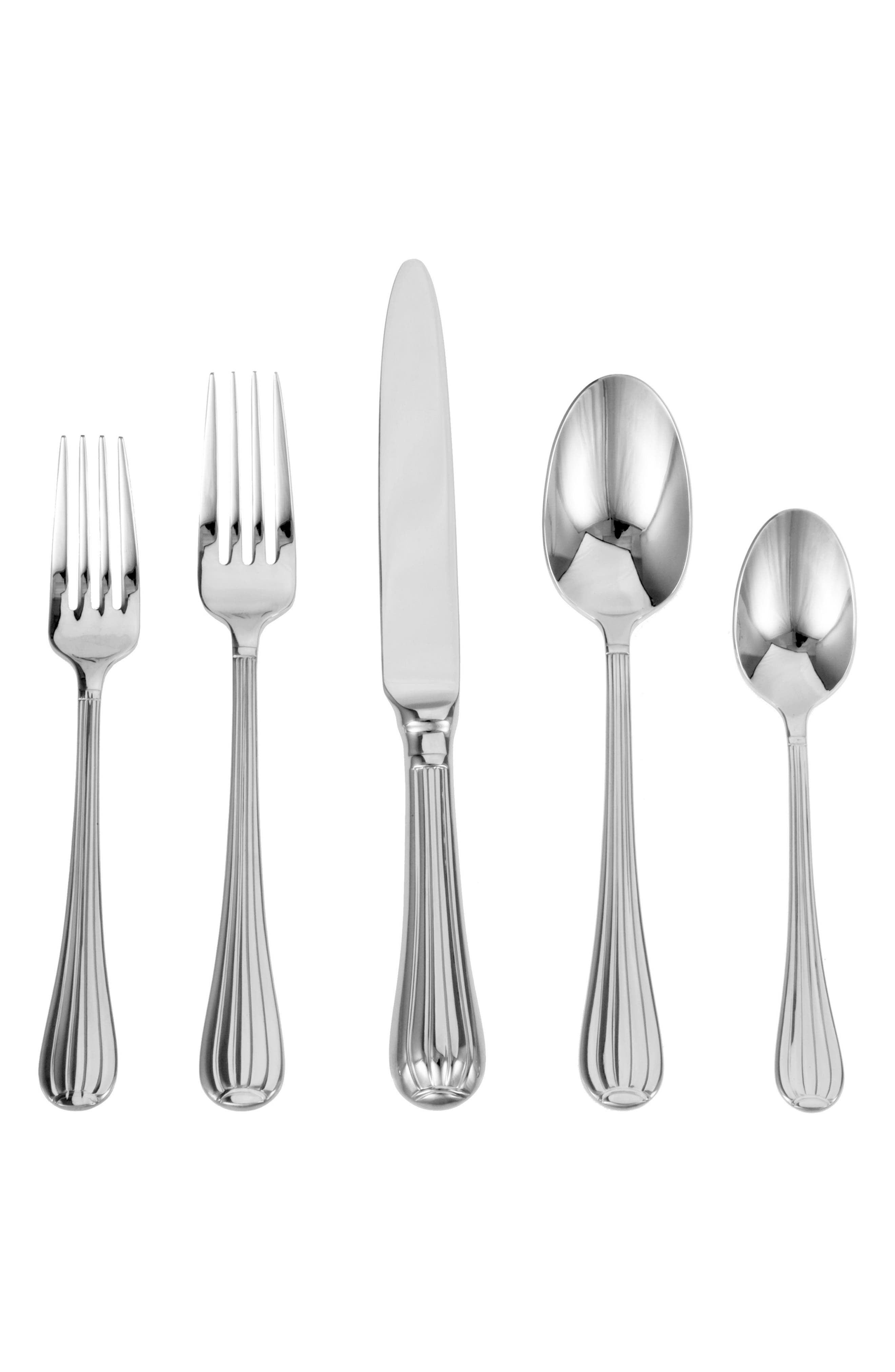 Argentieri Meridiani 45-Piece Stainless Steel Flatware Set,                             Main thumbnail 1, color,                             040