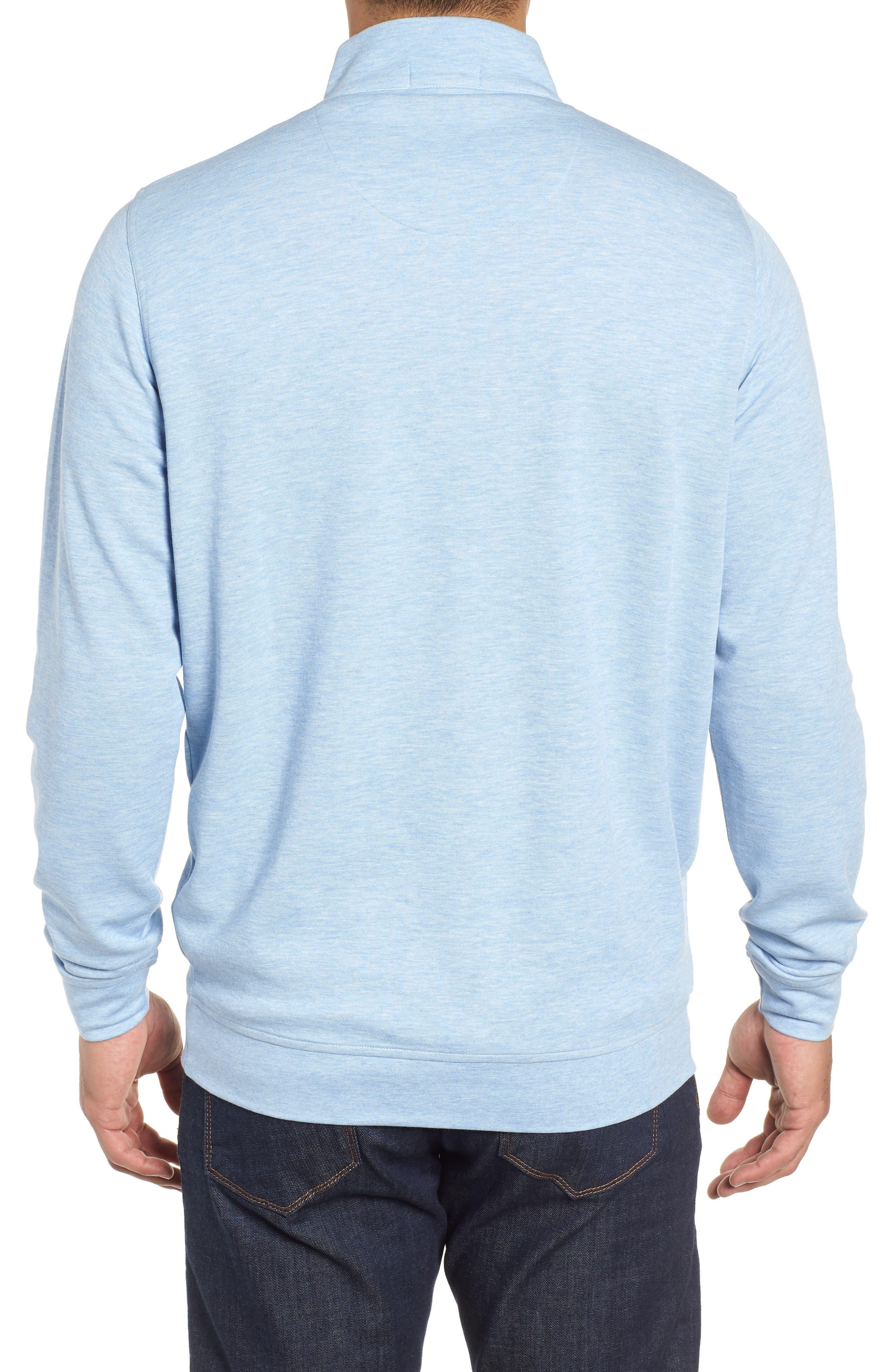 Crown Comfort Jersey Quarter Zip Pullover,                             Alternate thumbnail 2, color,                             COTTAGE BLUE