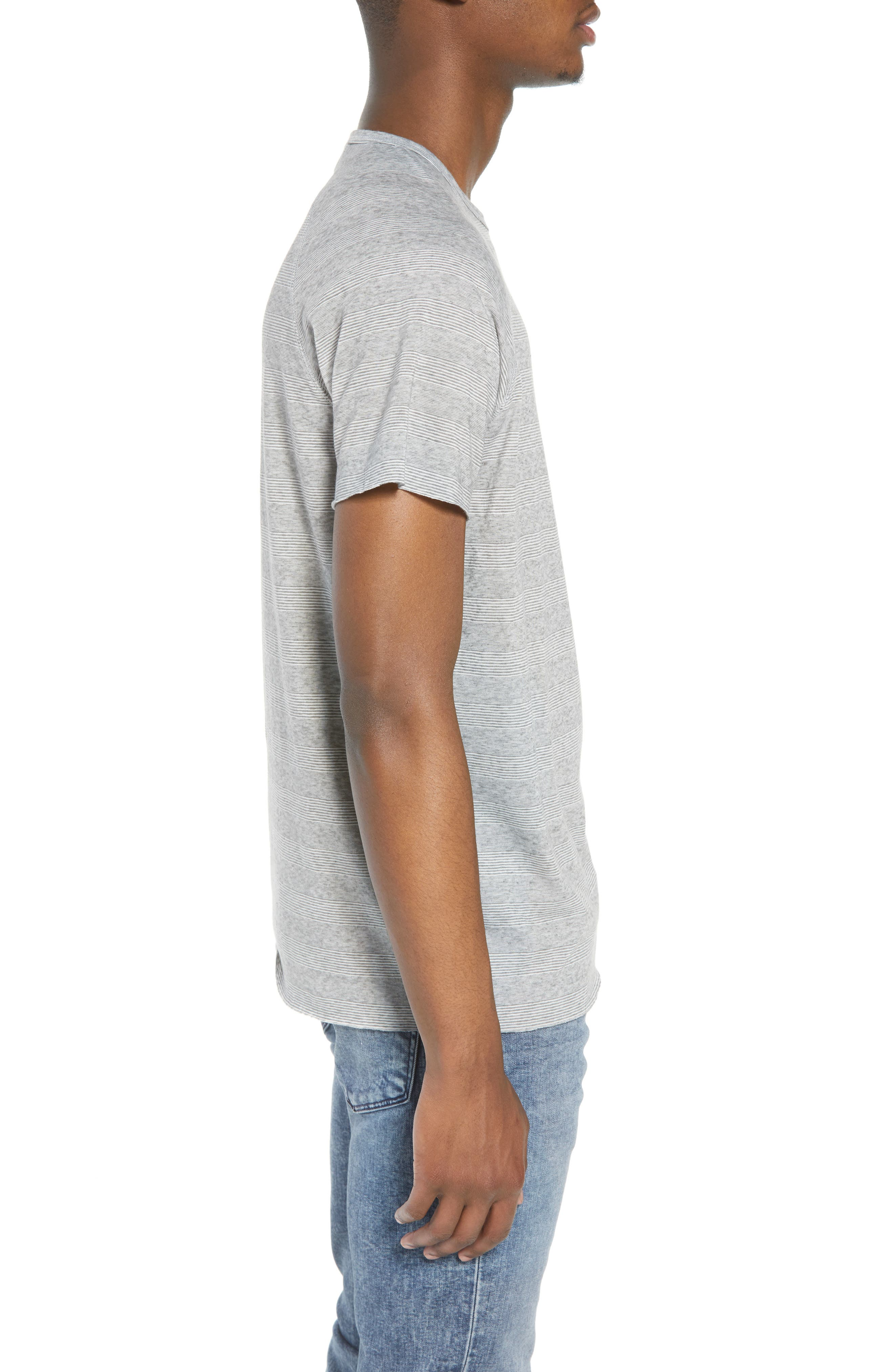 Stripe Pocket T-Shirt,                             Alternate thumbnail 3, color,                             030