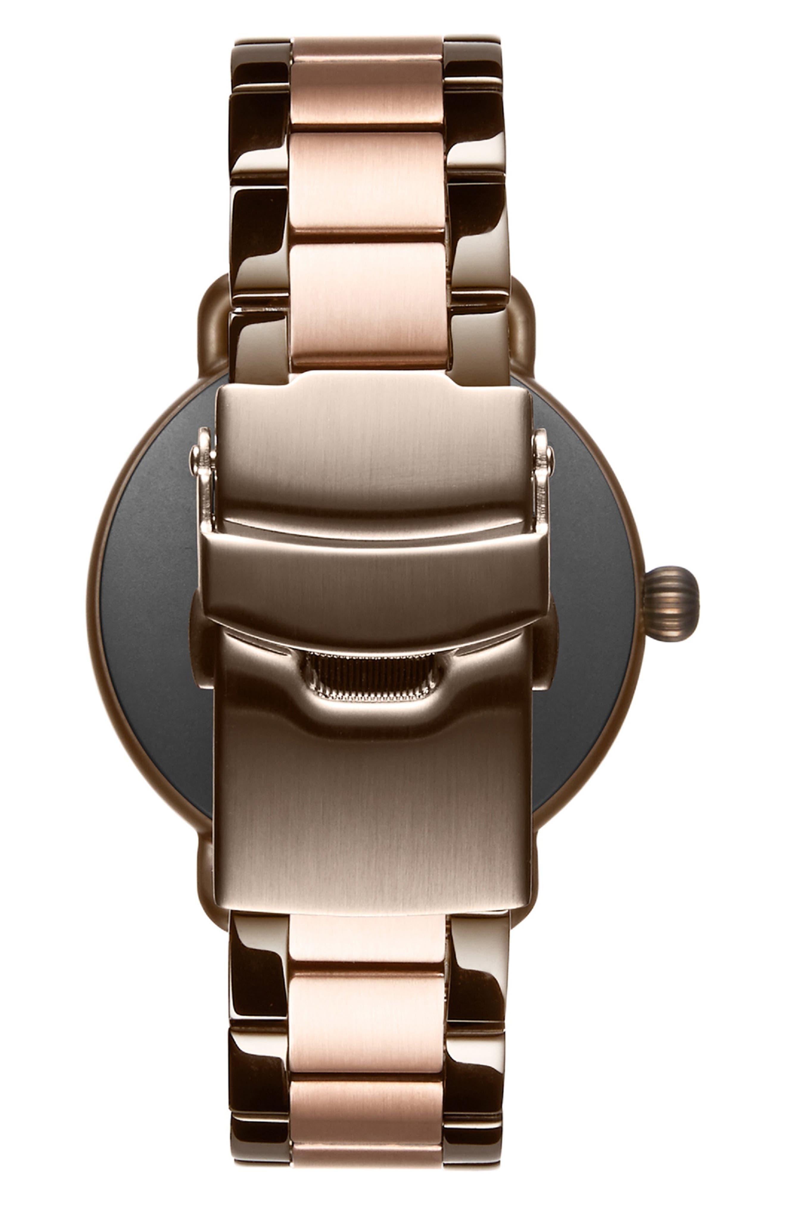 Bloom Bracelet Watch, 36mm,                             Alternate thumbnail 3, color,                             ROSE GOLD/ WHITE