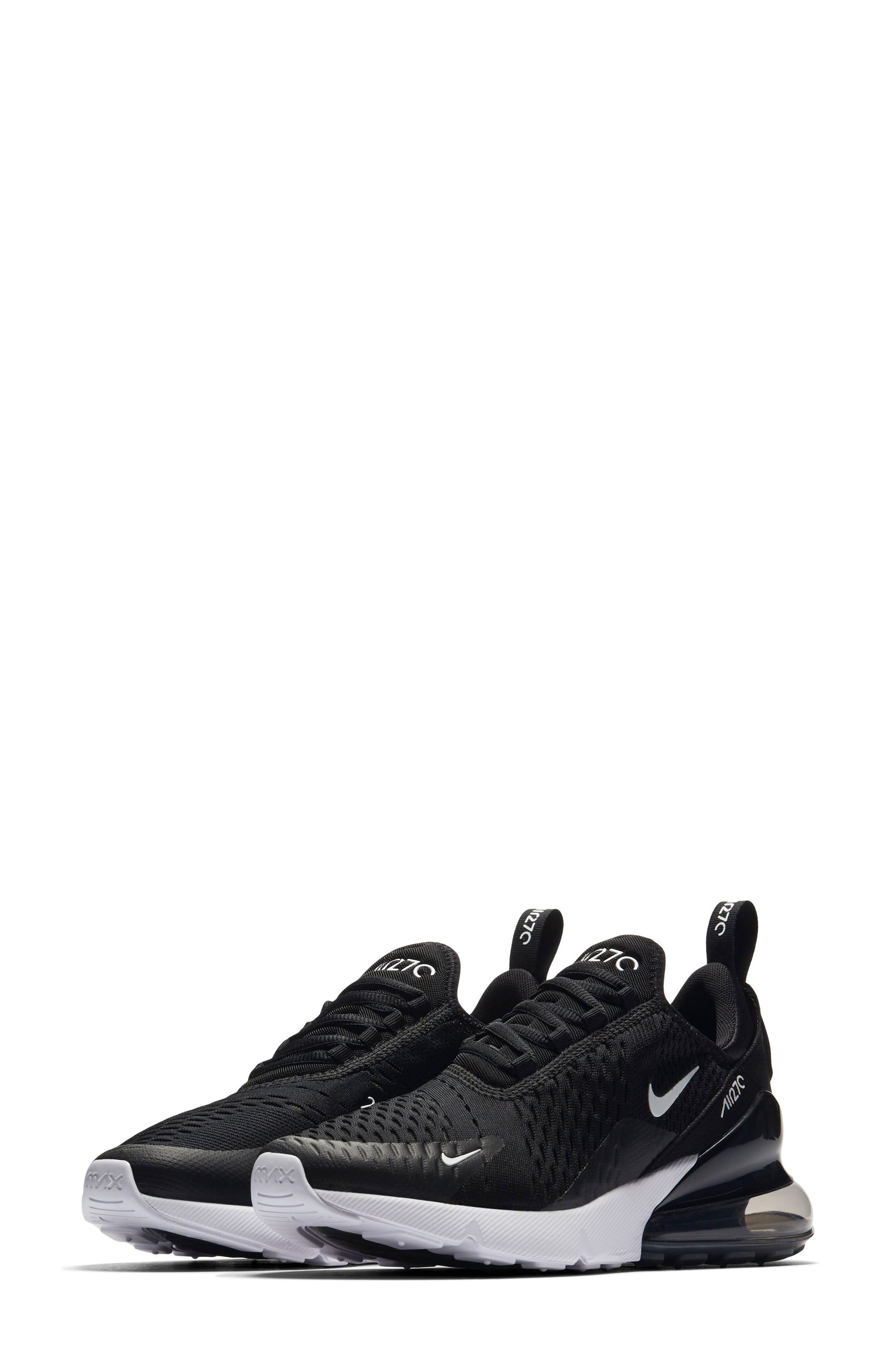 Air Max 270 Sneaker,                         Main,                         color, BLACK/ ANTHRACITE/ WHITE