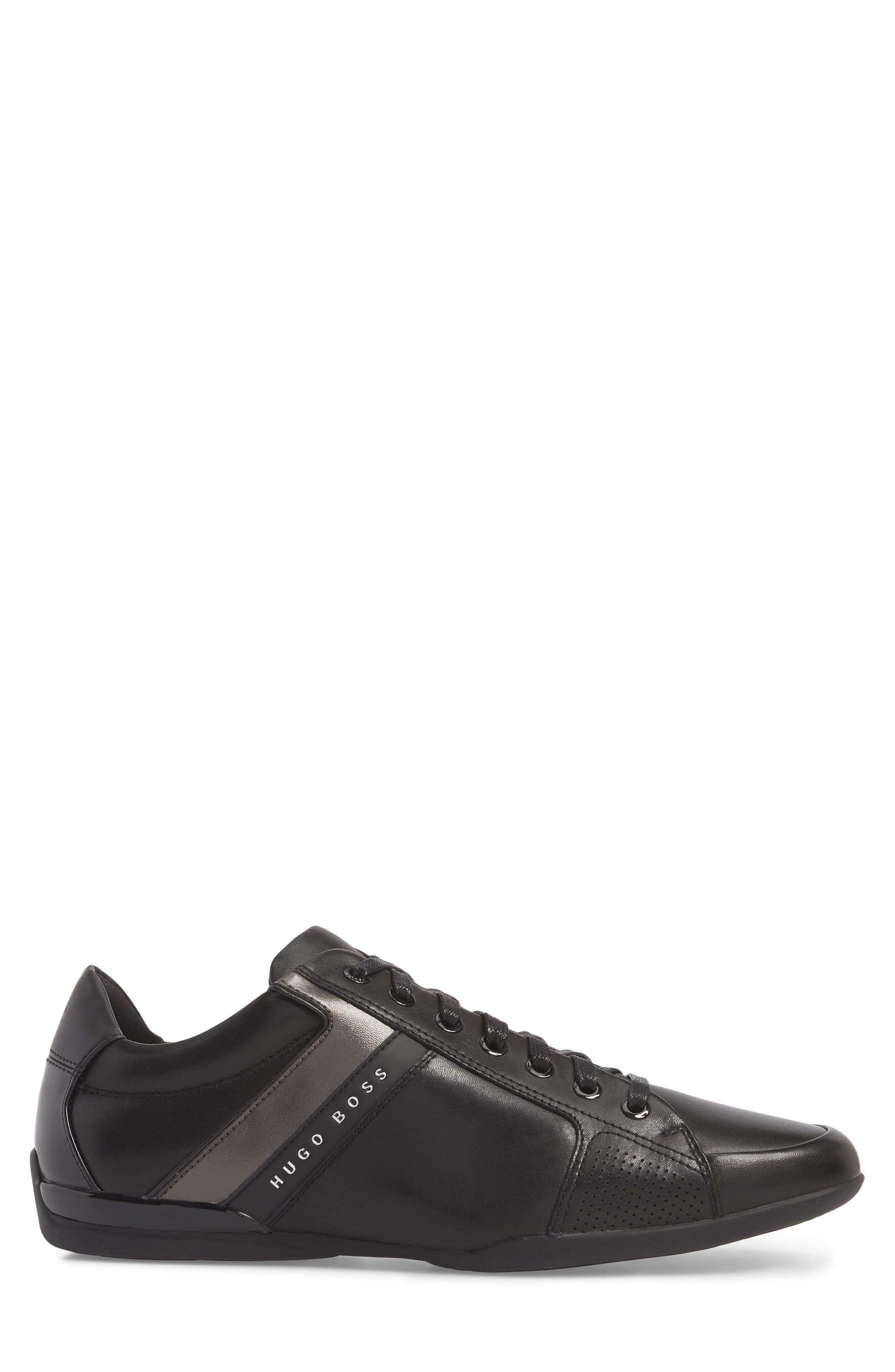 Space Lowp Lux Sneaker,                             Alternate thumbnail 3, color,                             BLACK LEATHER