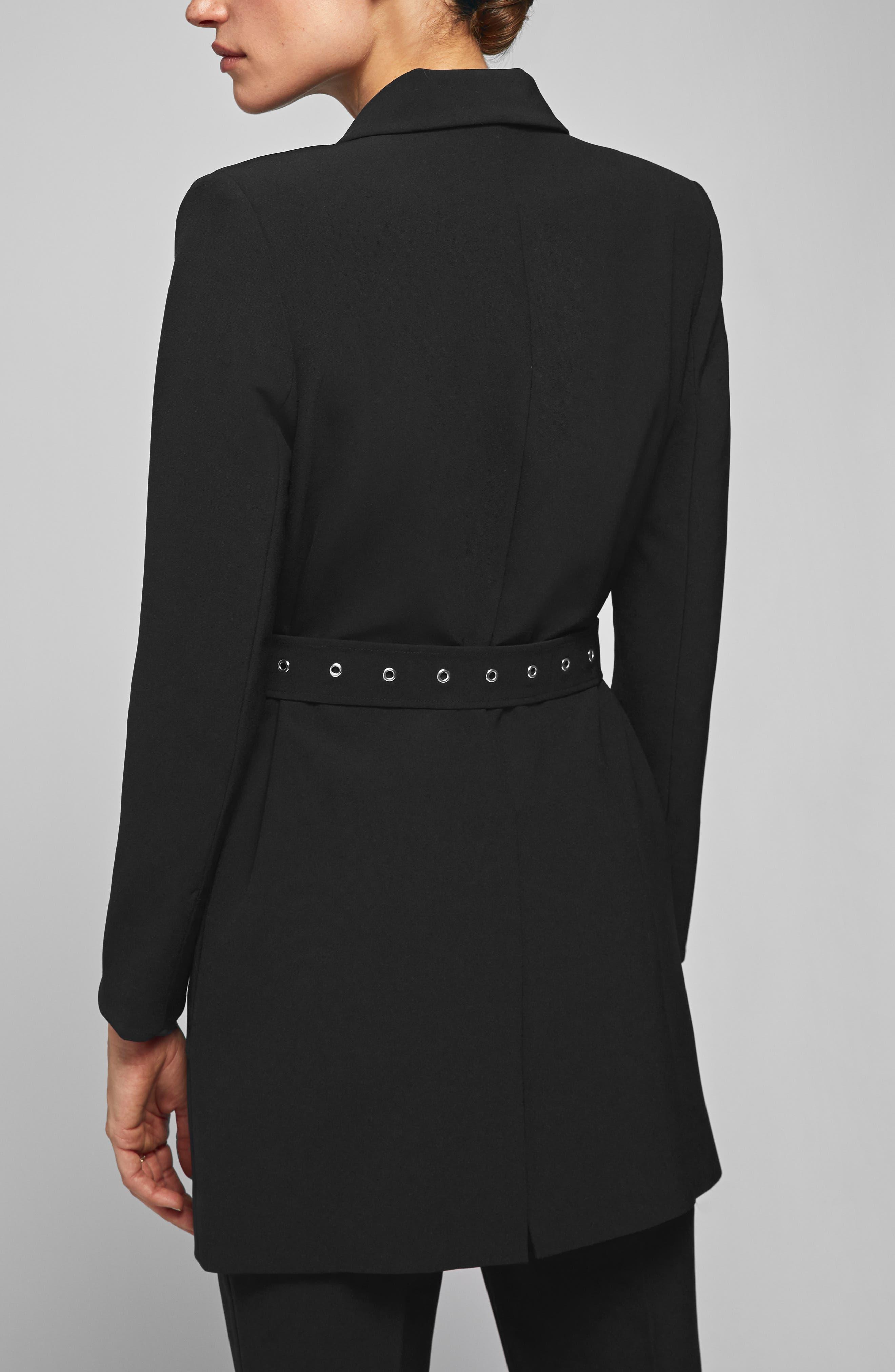 Belted Blazer,                             Alternate thumbnail 2, color,                             BLACK