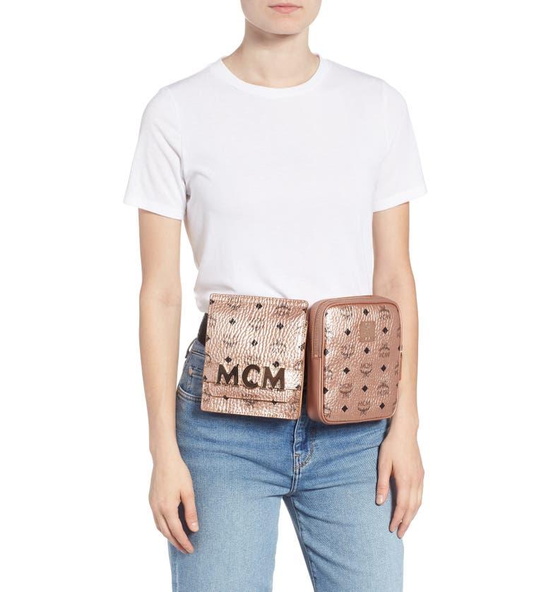 610e27de786f MCM Stark Canvas Double Belt Bag