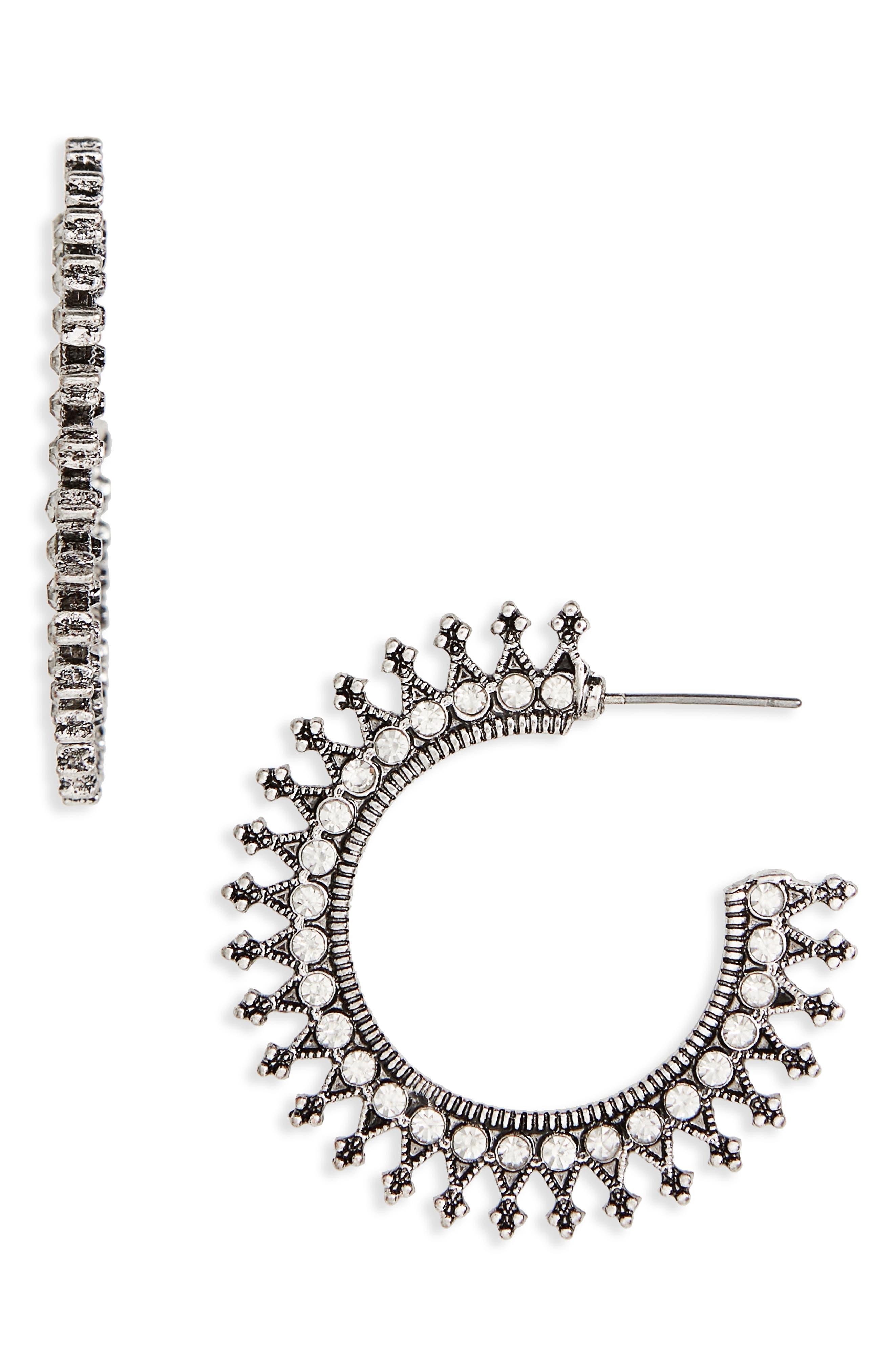 Décor Hoop Earrings,                         Main,                         color, 040