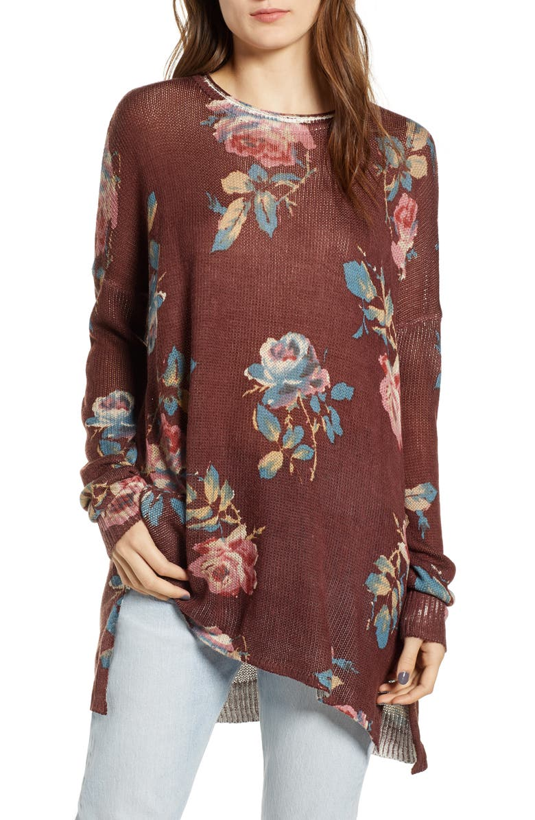 Show Me Your Mumu CHOCOLATE AND ROSES TUNIC SWEATER