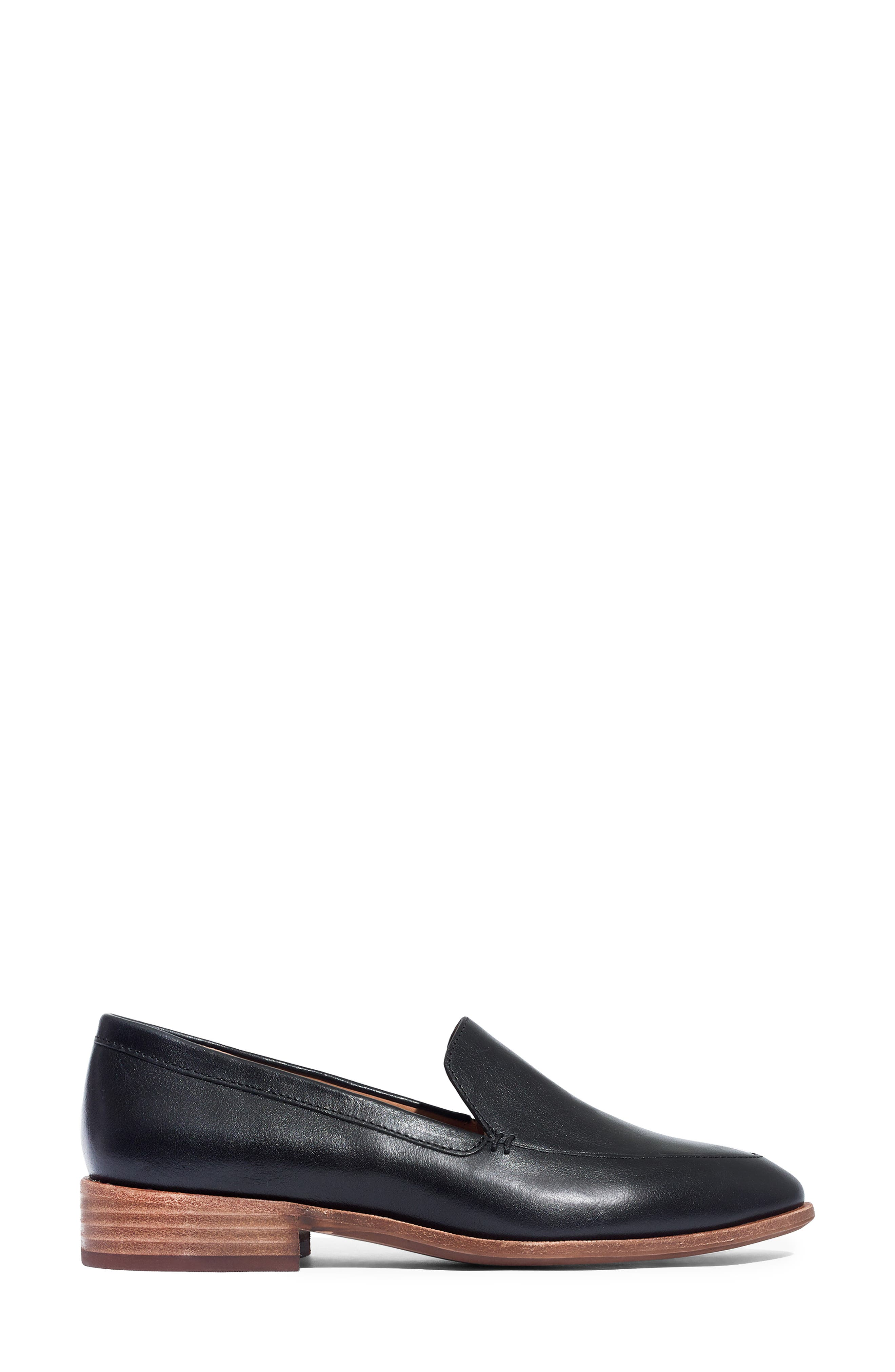 MADEWELL,                             The Frances Loafer,                             Alternate thumbnail 3, color,                             TRUE BLACK LEATHER