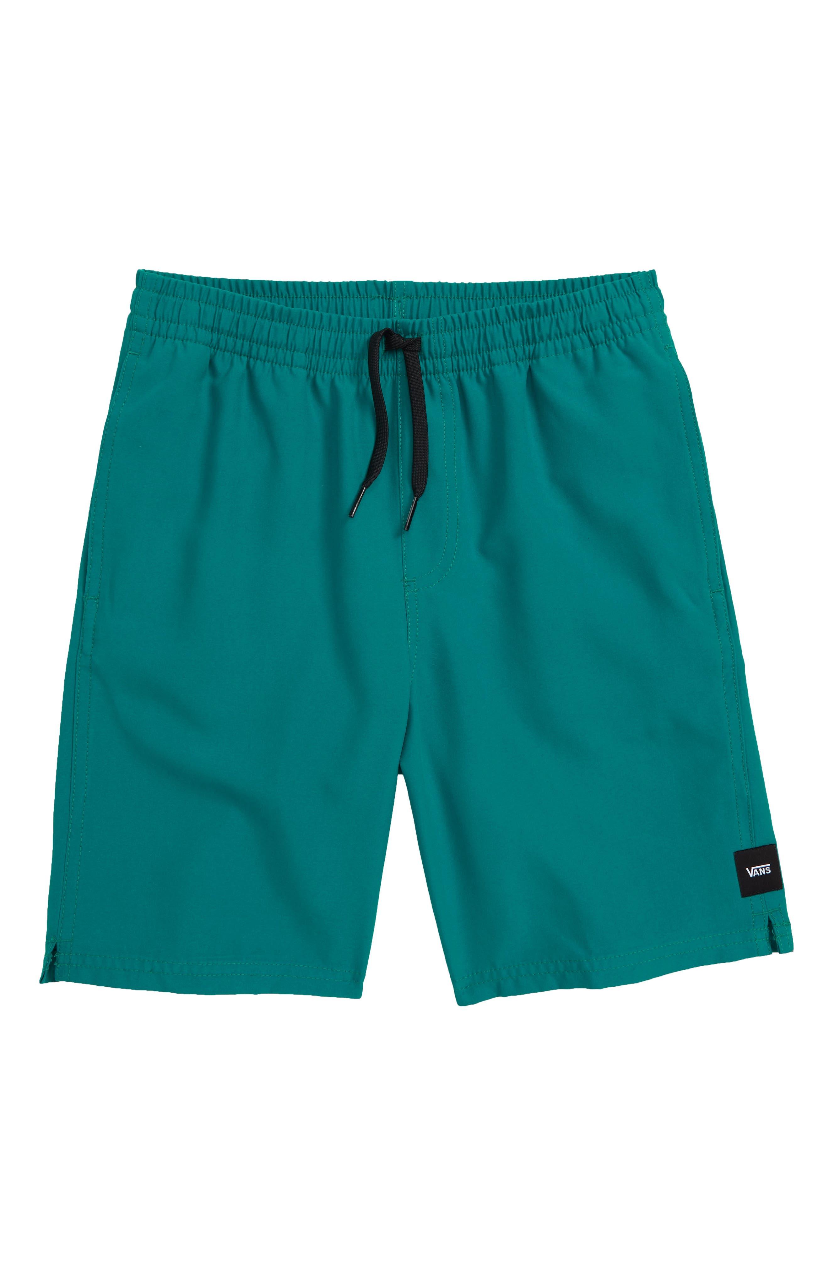 VANS Primary Decksider Volley Shorts, Main, color, QUETZAL