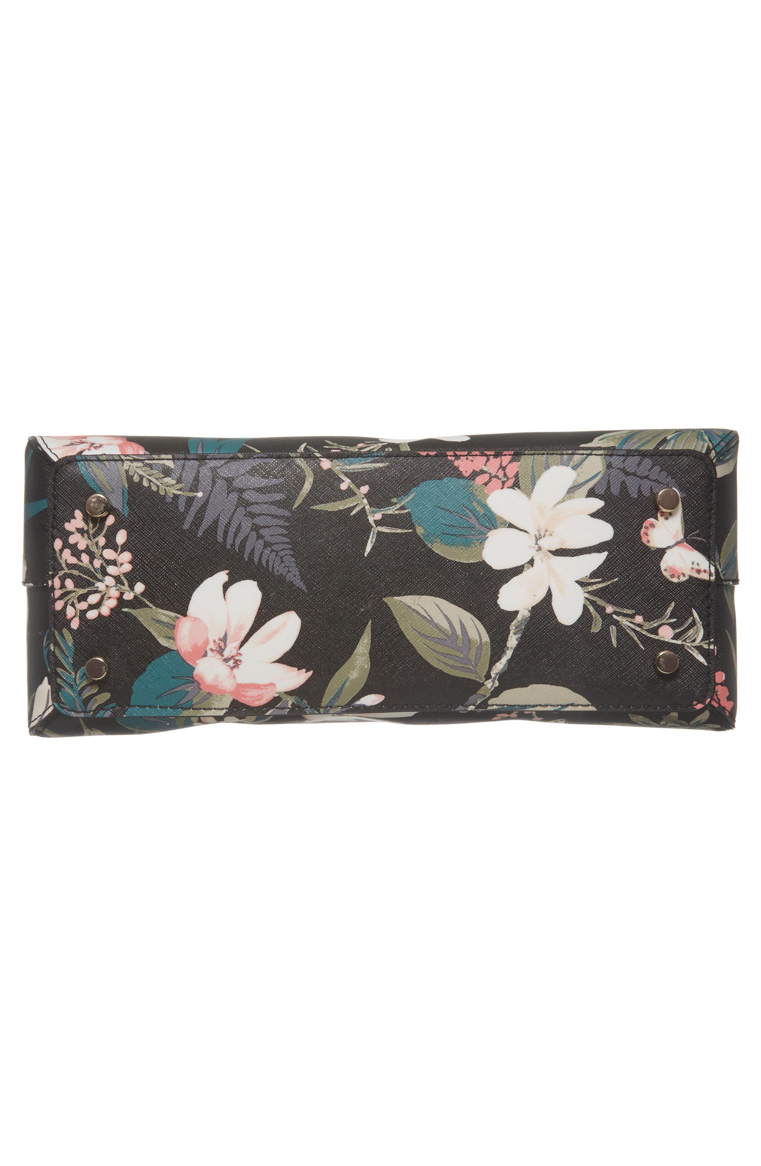 cameron street botanical maise faux leather satchel,                             Alternate thumbnail 6, color,