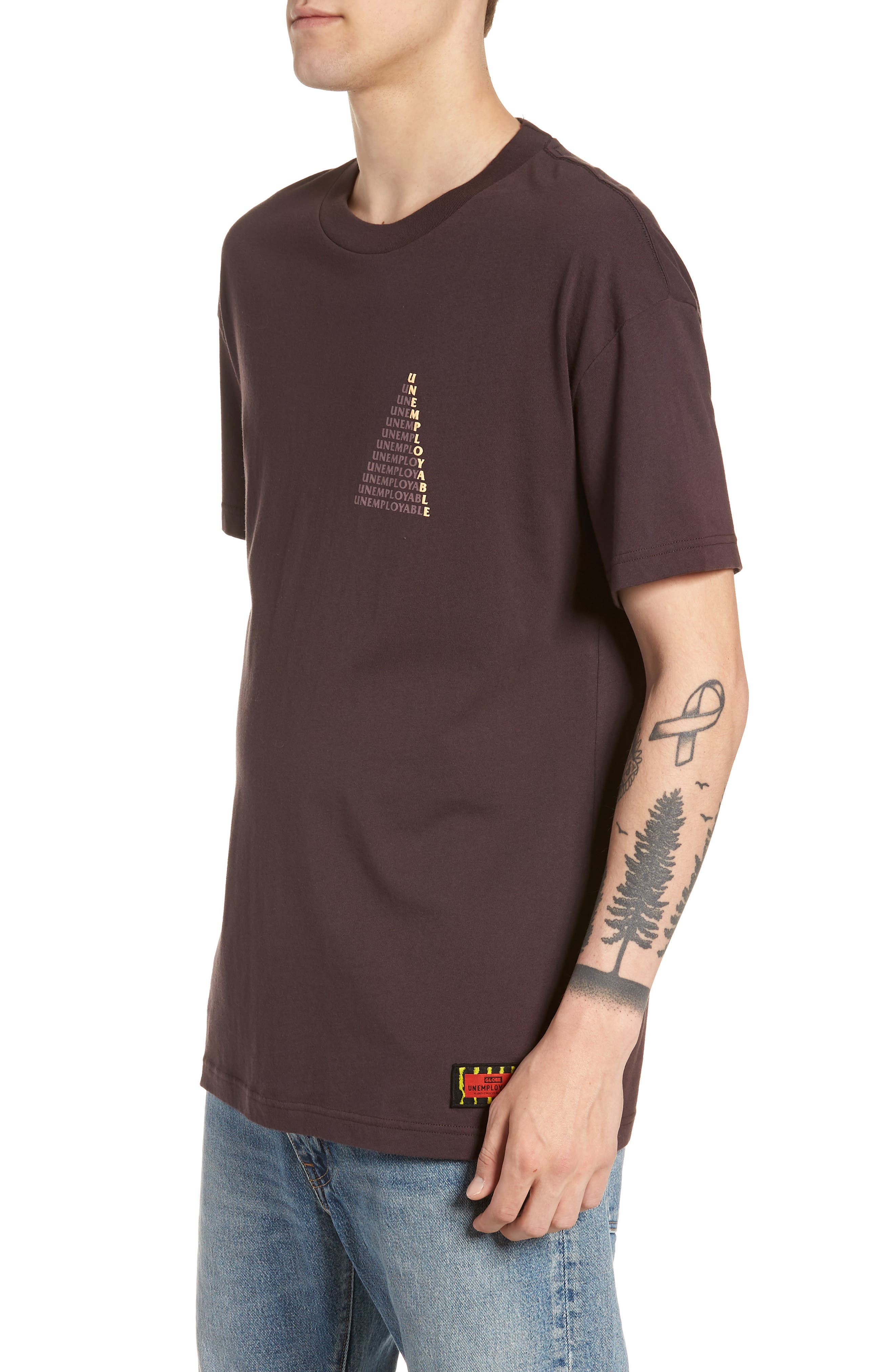 UE Pyramid T-Shirt,                             Alternate thumbnail 3, color,                             WINE