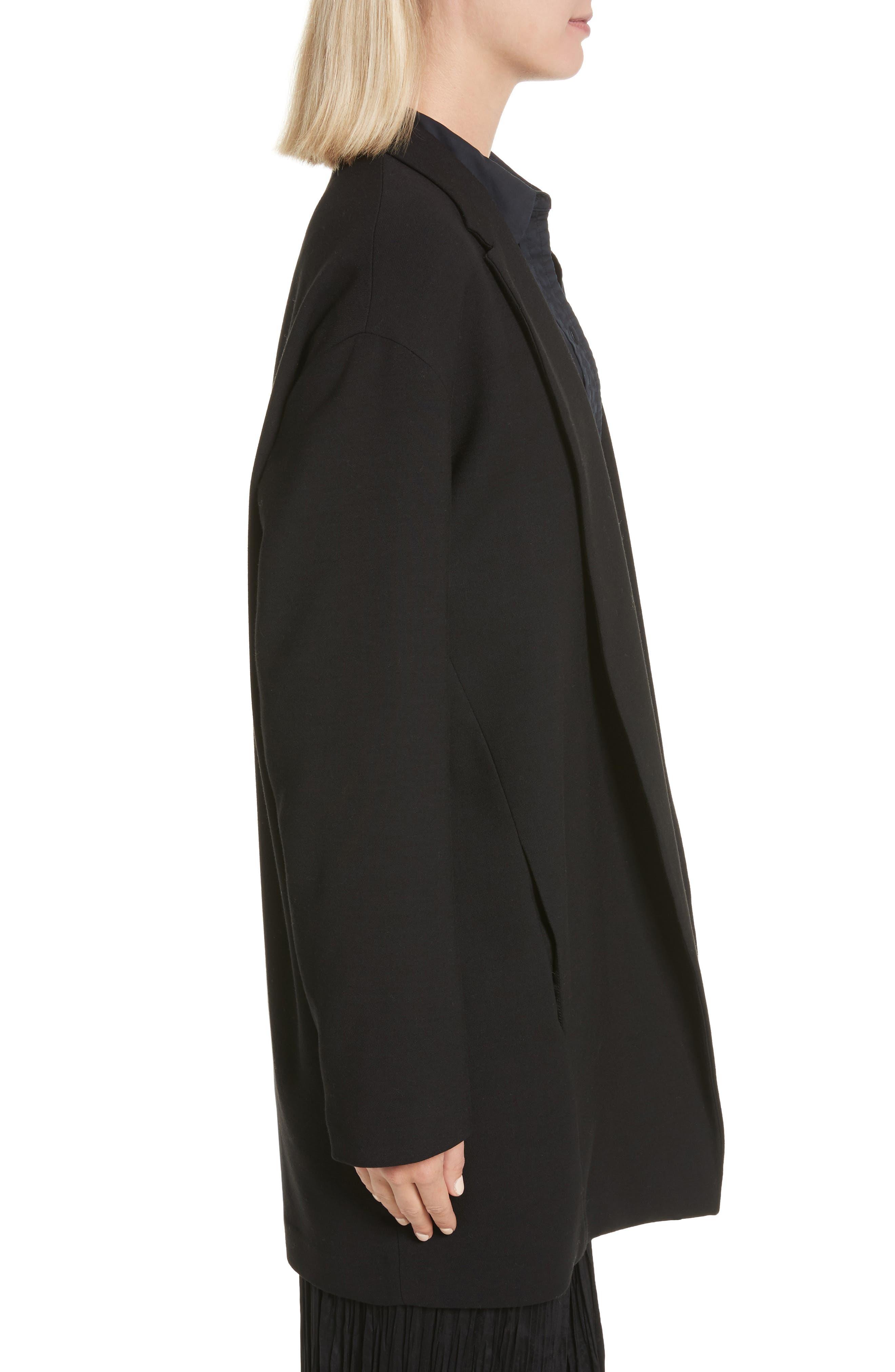 Open Front Blazer Coat,                             Alternate thumbnail 3, color,                             001