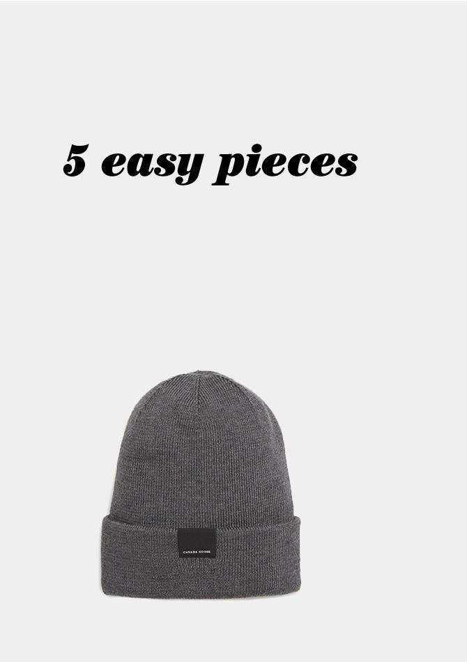 Five easy pieces, men's fashion.