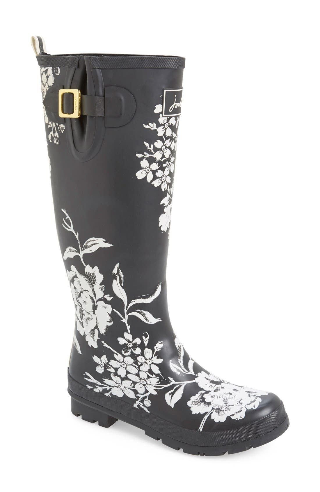 'Welly' Print Rain Boot,                             Main thumbnail 22, color,