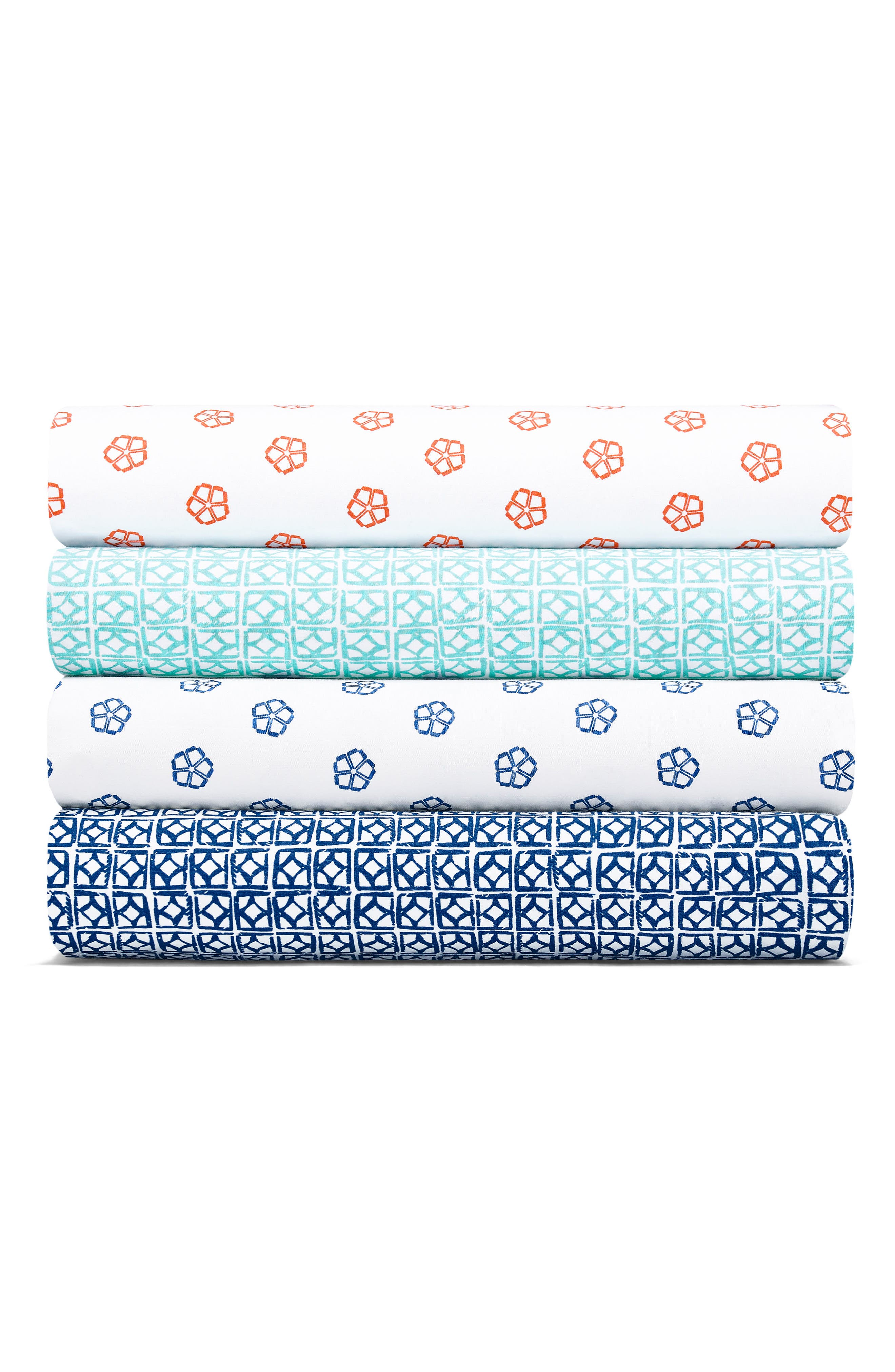 TRINA TURK,                             Fiorella 200 Thread Count Sheet Set,                             Alternate thumbnail 2, color,                             BLUE