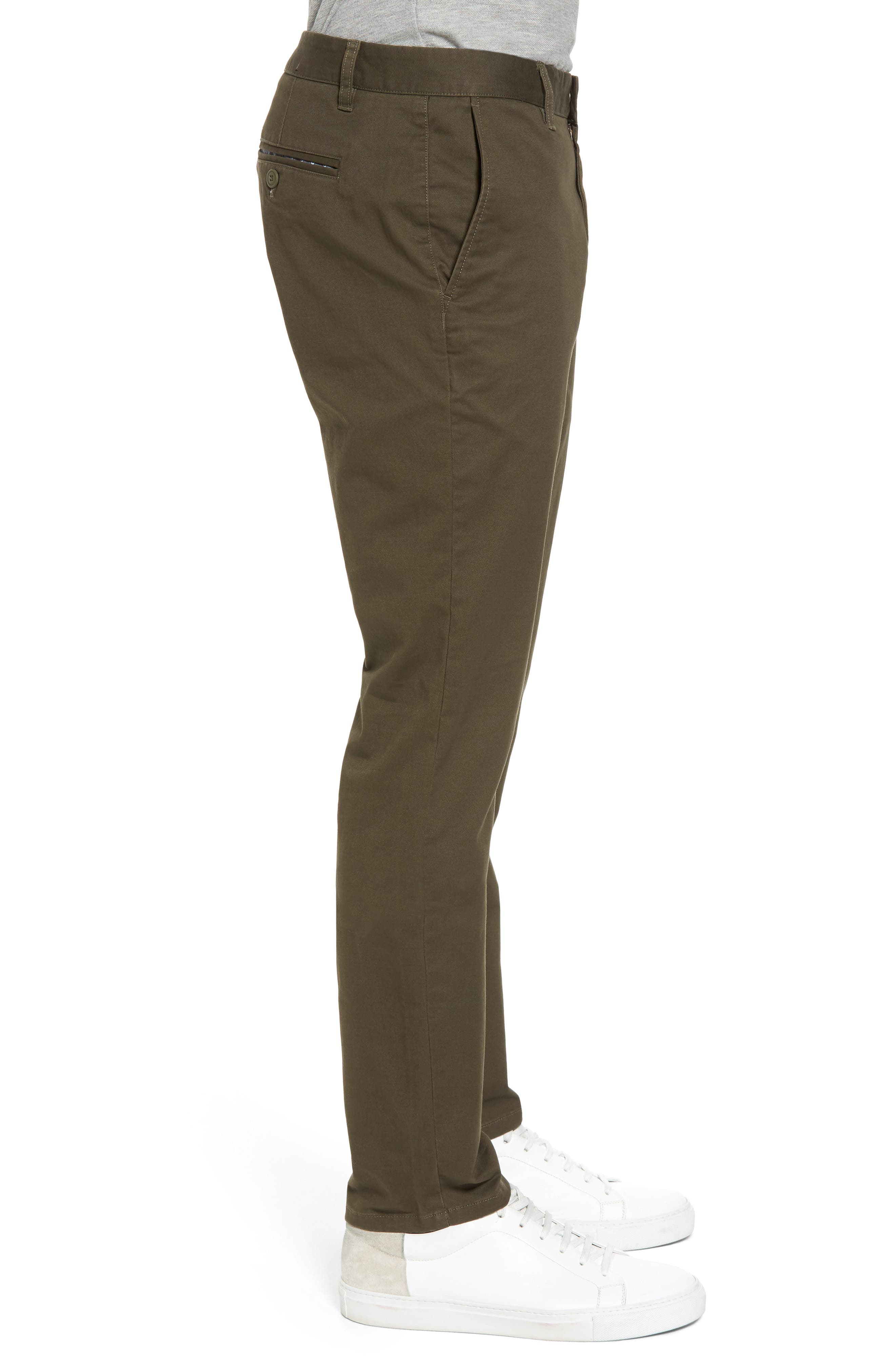 Tailored Fit Washed Stretch Cotton Chinos,                             Alternate thumbnail 101, color,