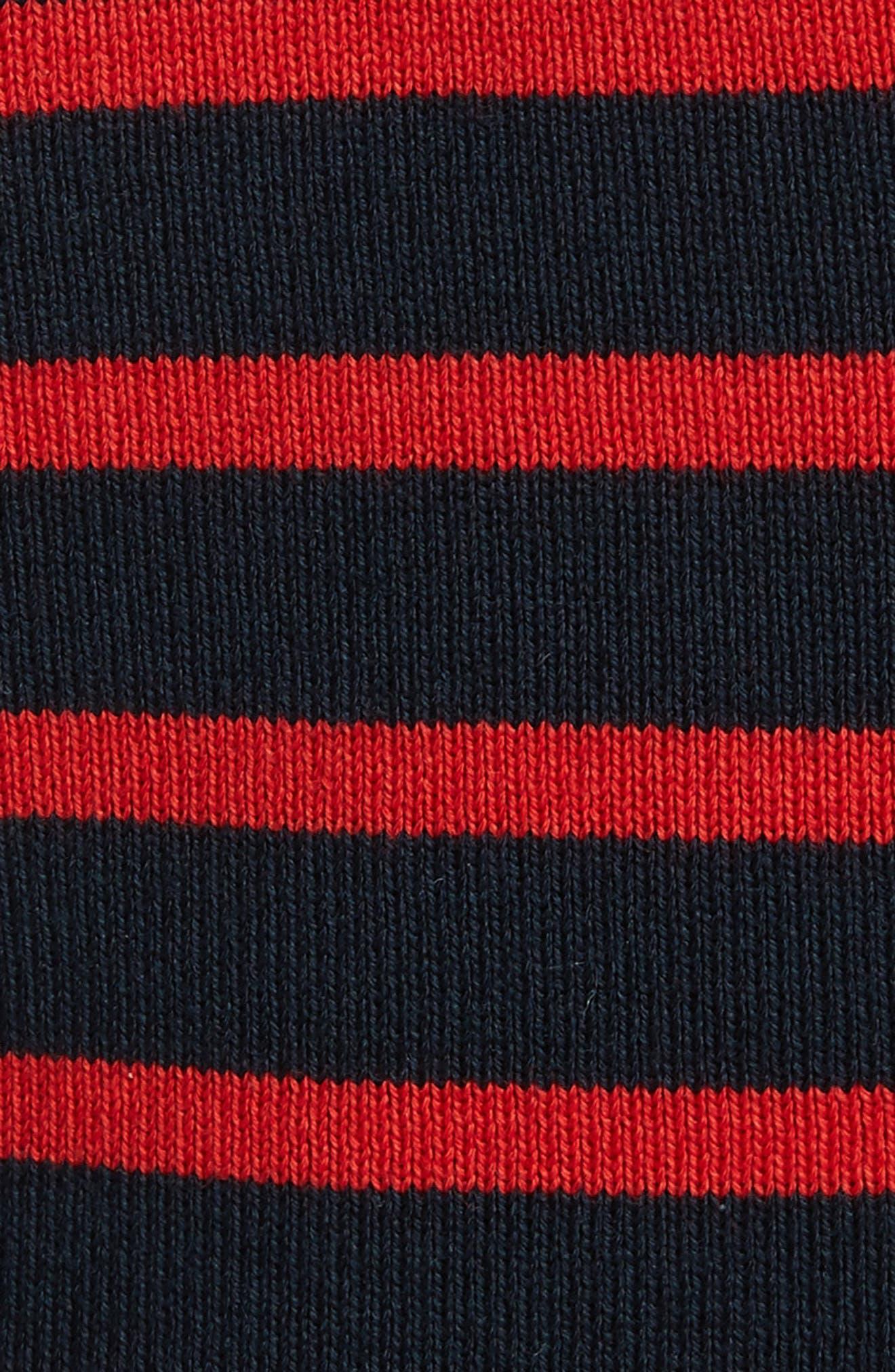 Stripe Wool Blend Hoodie,                             Alternate thumbnail 5, color,