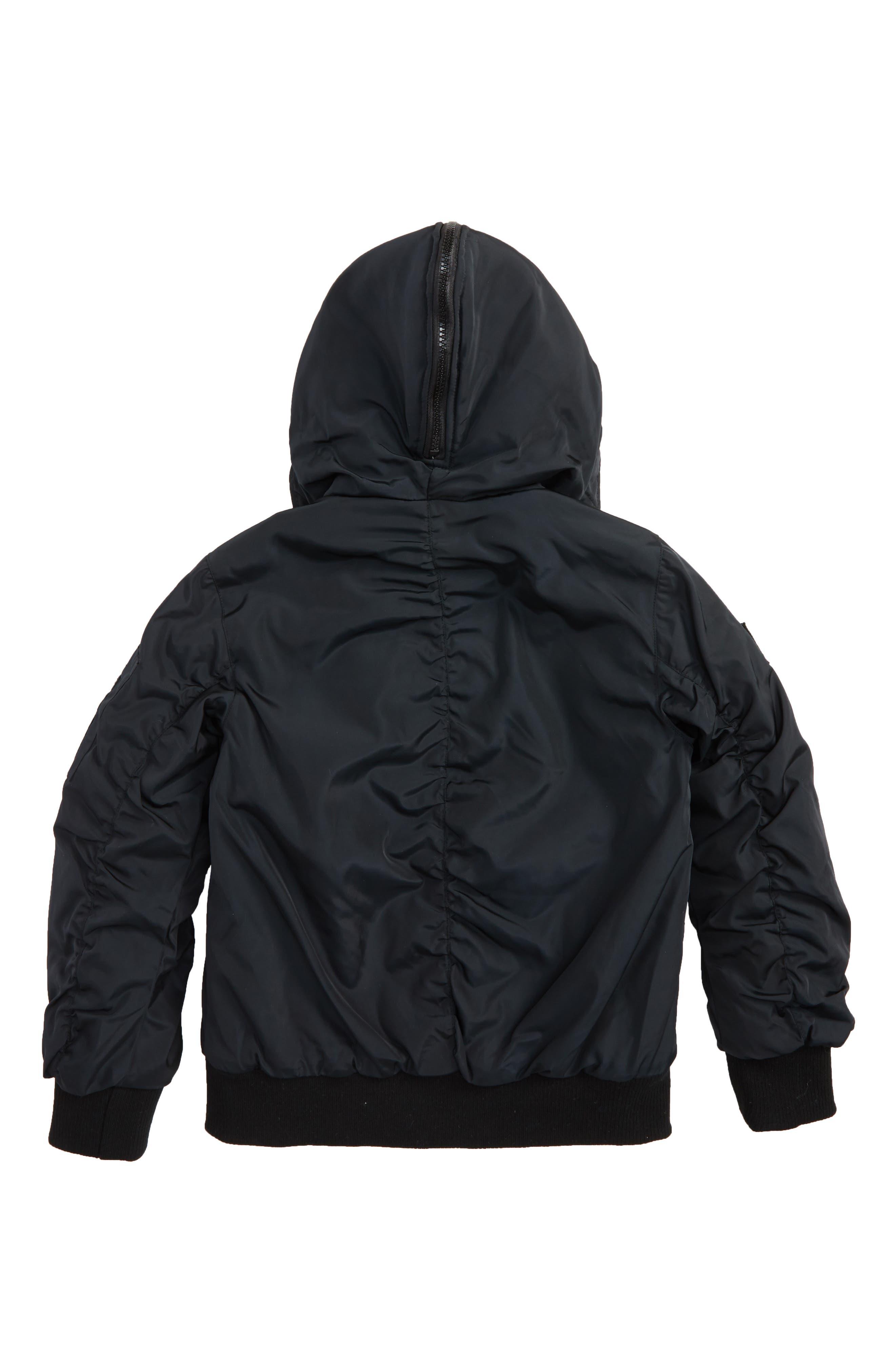 Hooded Bomber Jacket,                             Alternate thumbnail 2, color,                             001