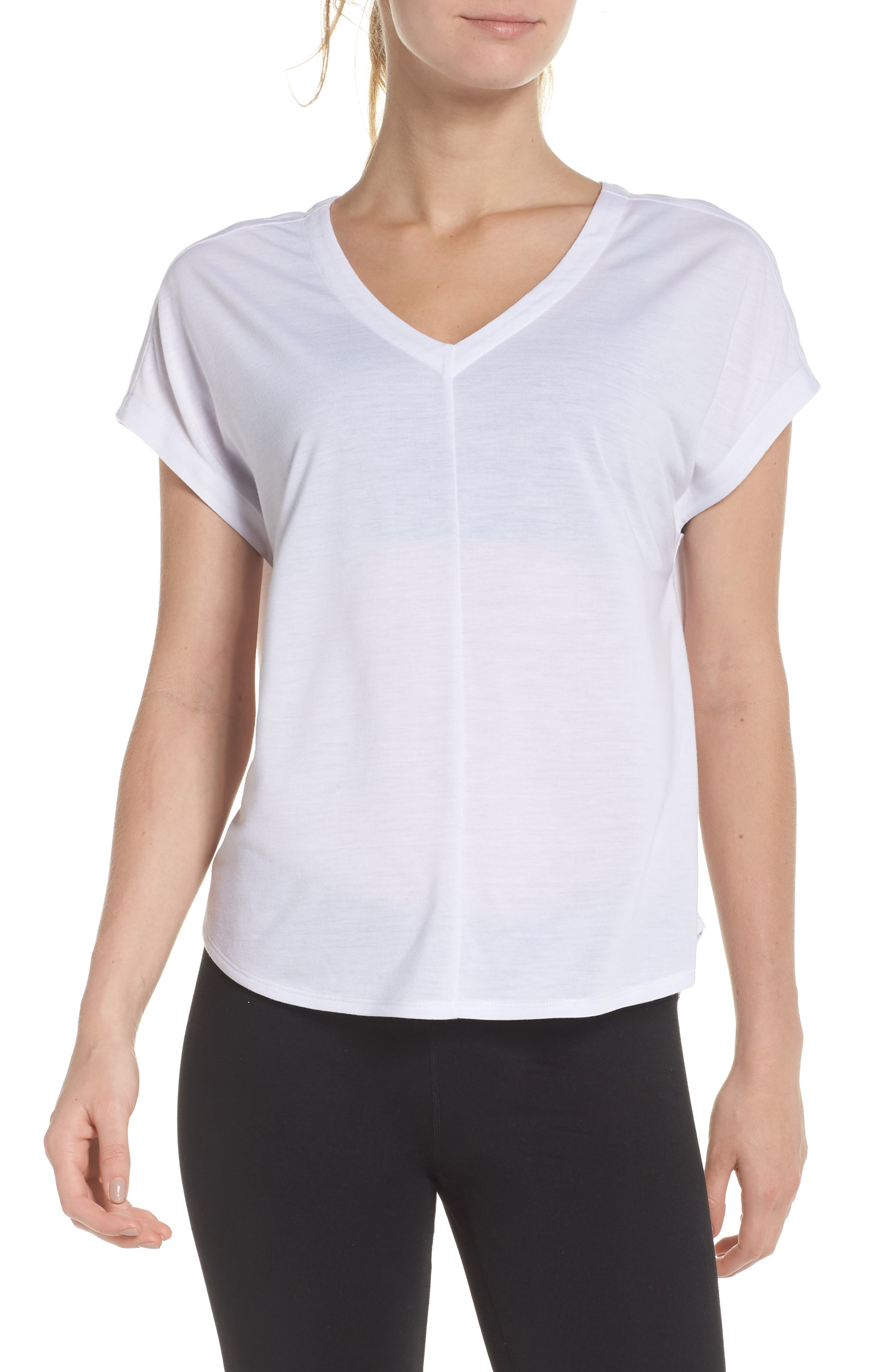 Release Cutout Tee,                         Main,                         color, WHITE