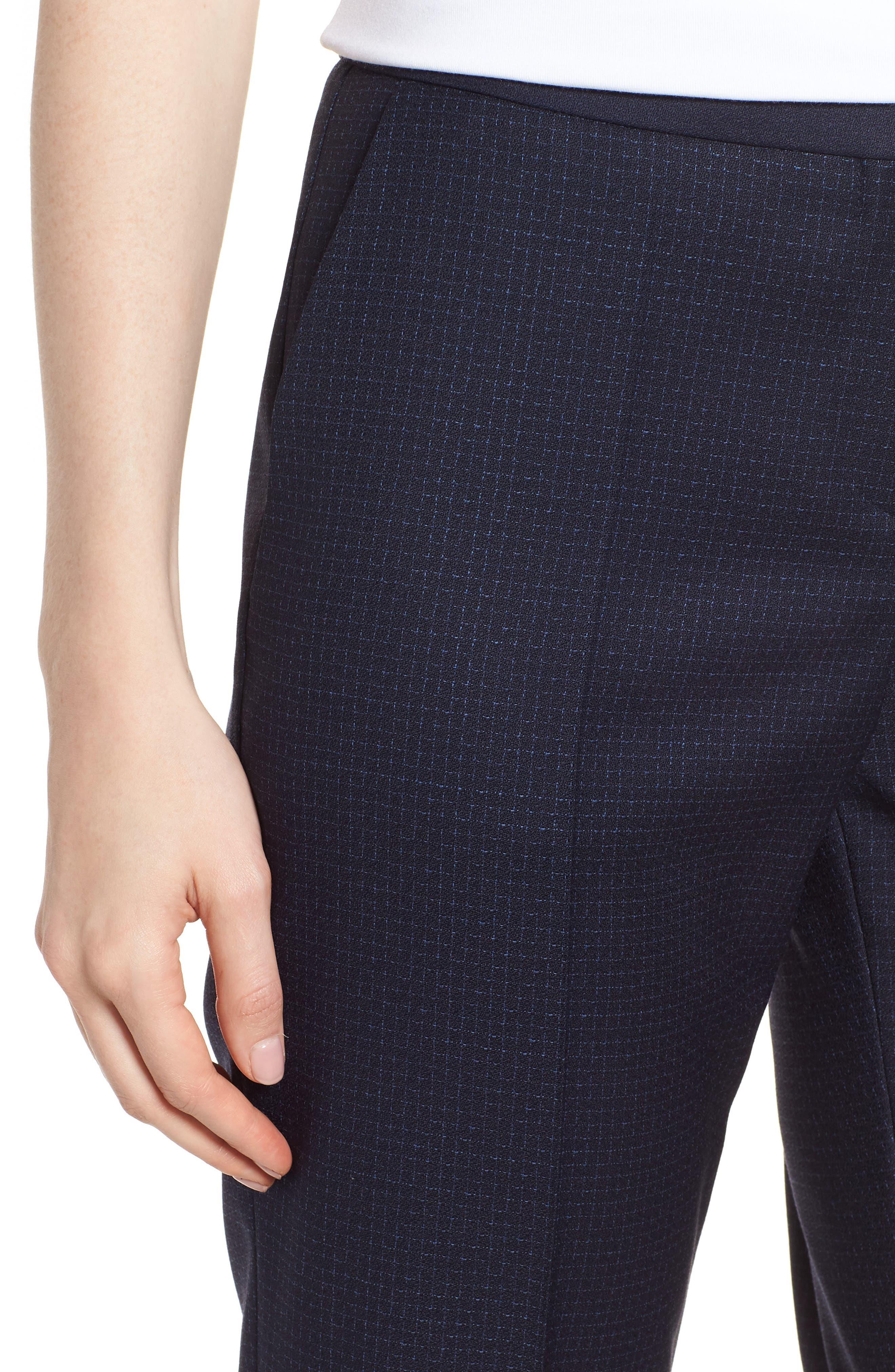 Tiluna Windowpane Slim Leg Trousers,                             Alternate thumbnail 4, color,