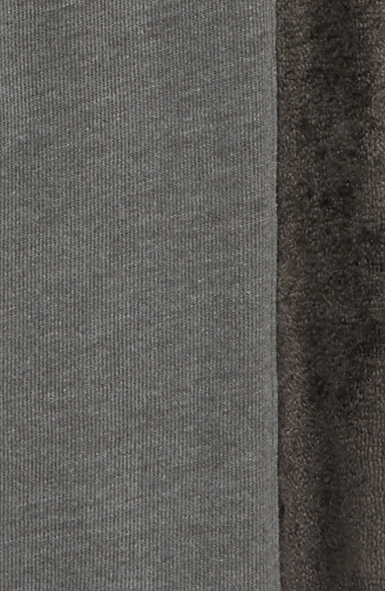 Velour Stripe Jogger Pants,                             Alternate thumbnail 2, color,                             GREY COBBLE